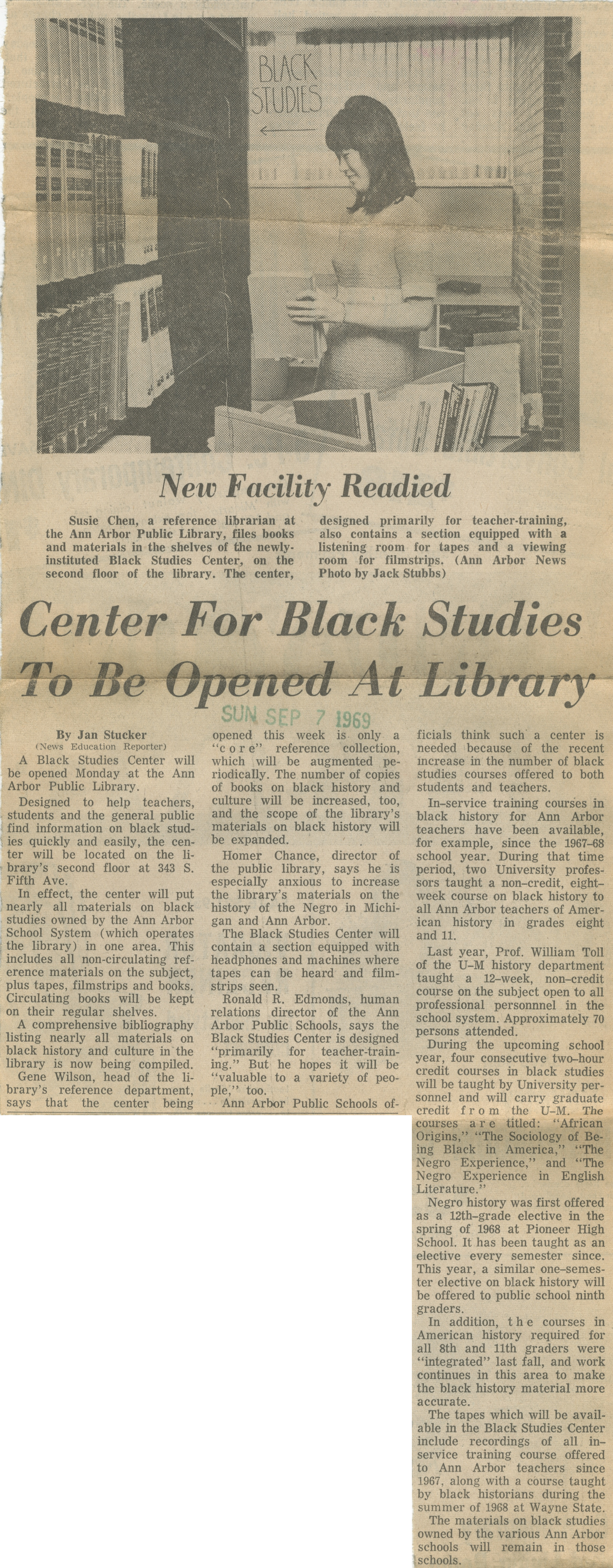 Center For Black Studies To Be Opened At Library image