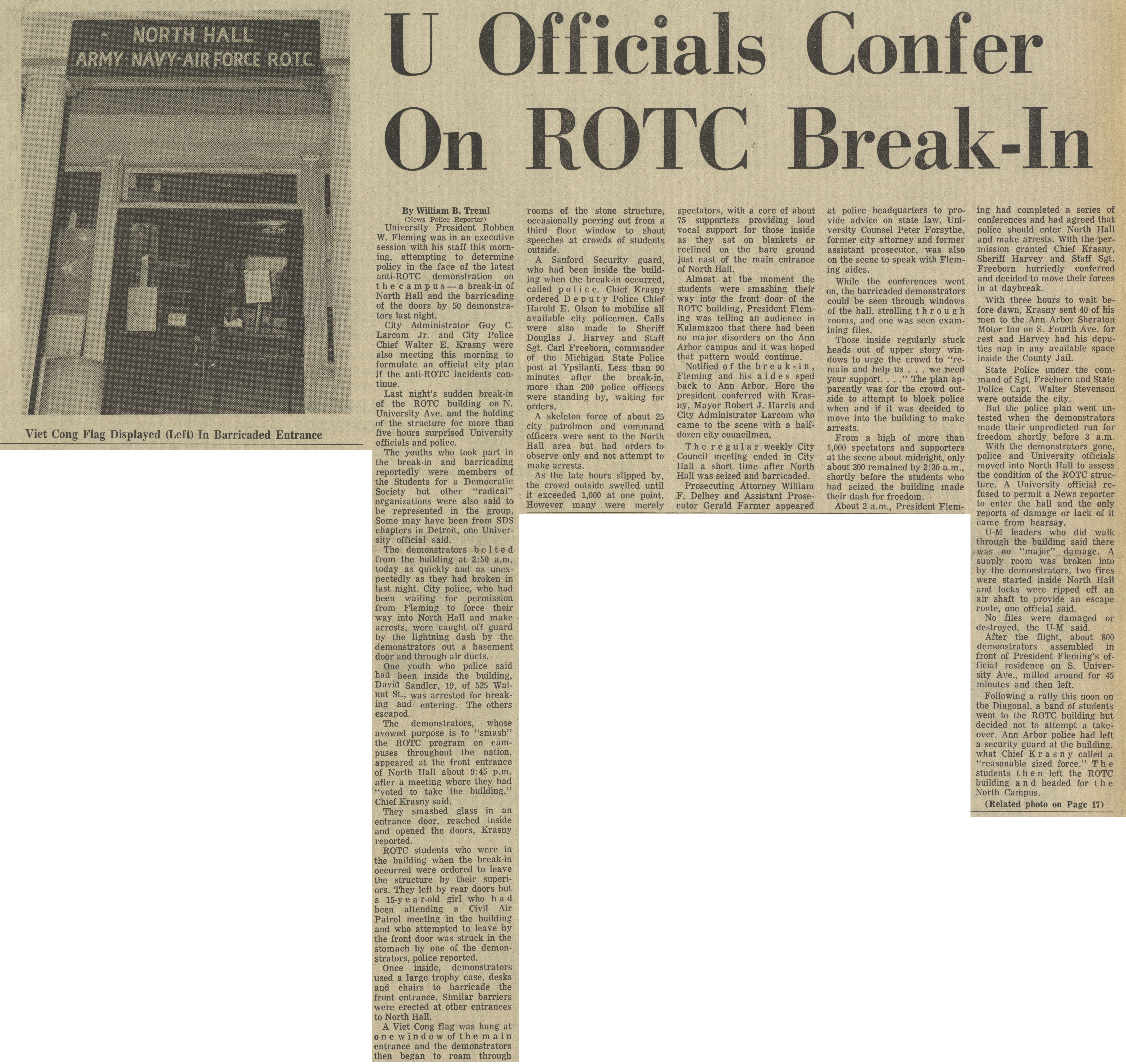 U Officials Confer On ROTC Break-In image