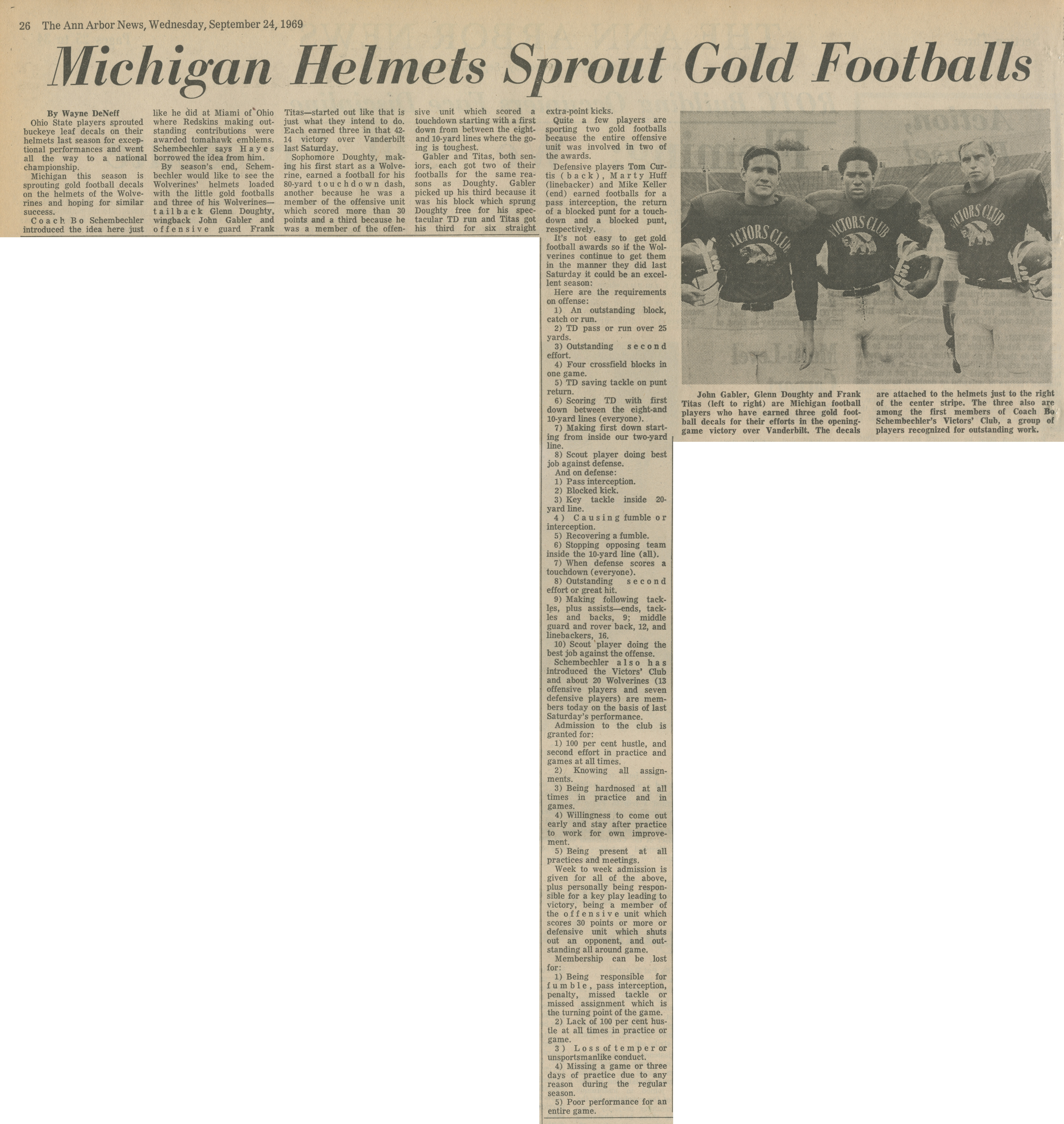 Michigan Helmets Sprout Gold Footballs image
