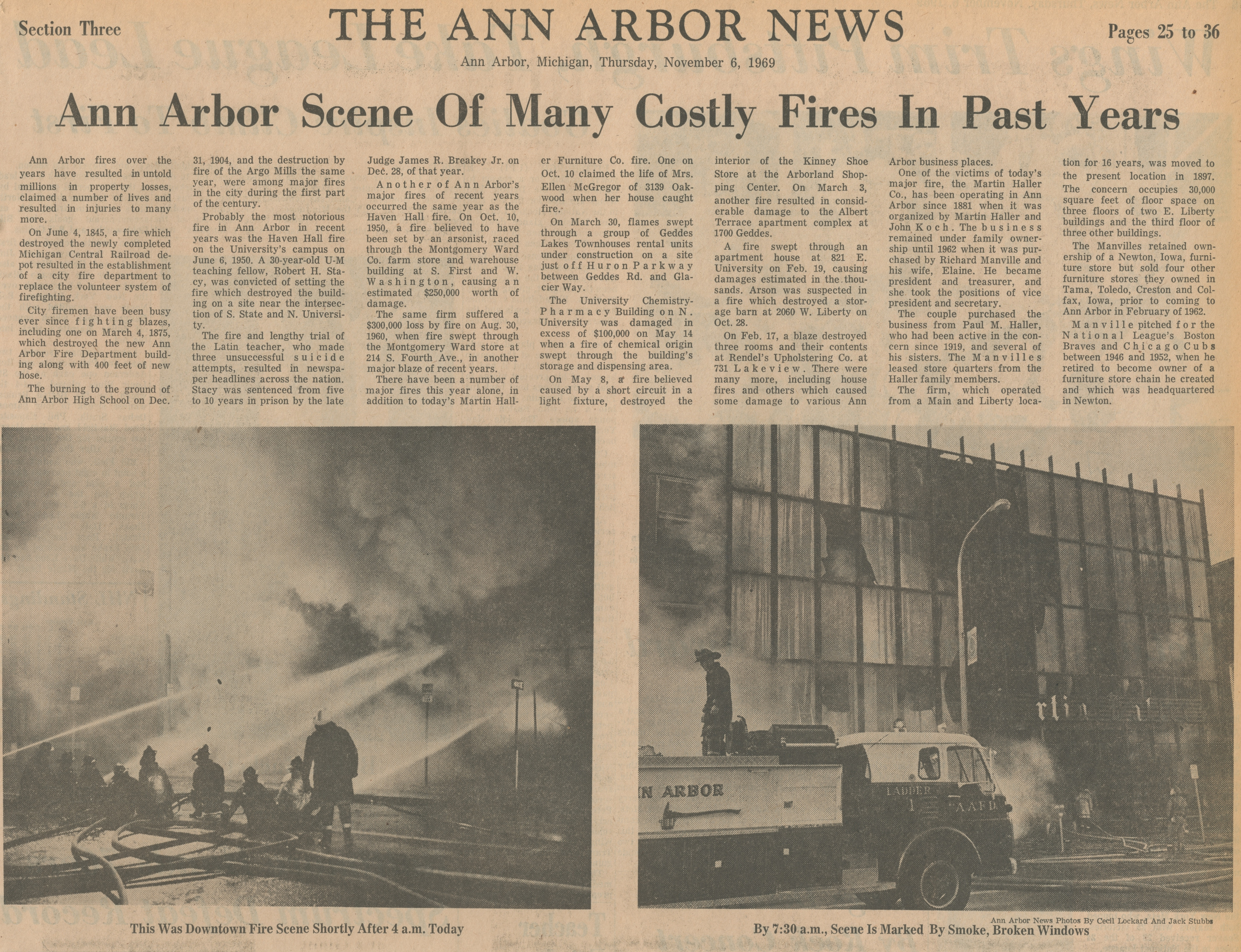 Ann Arbor Scene Of Many Costly Fires In Past Years image