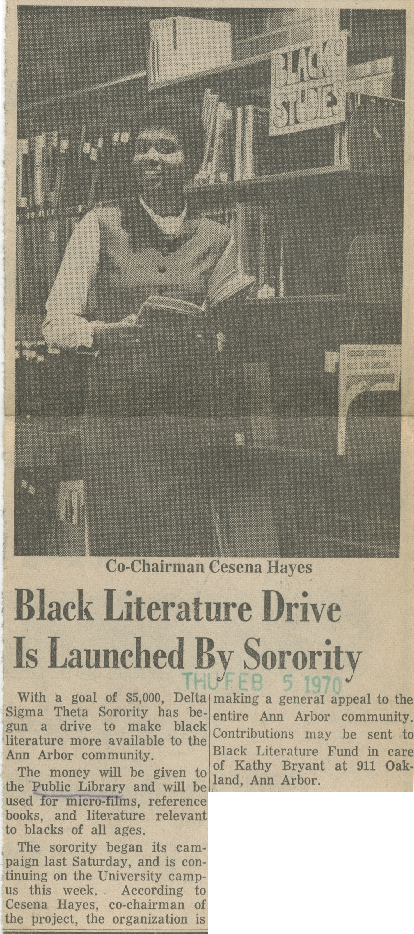 Black Literature Drive Is Launched By Sorority image