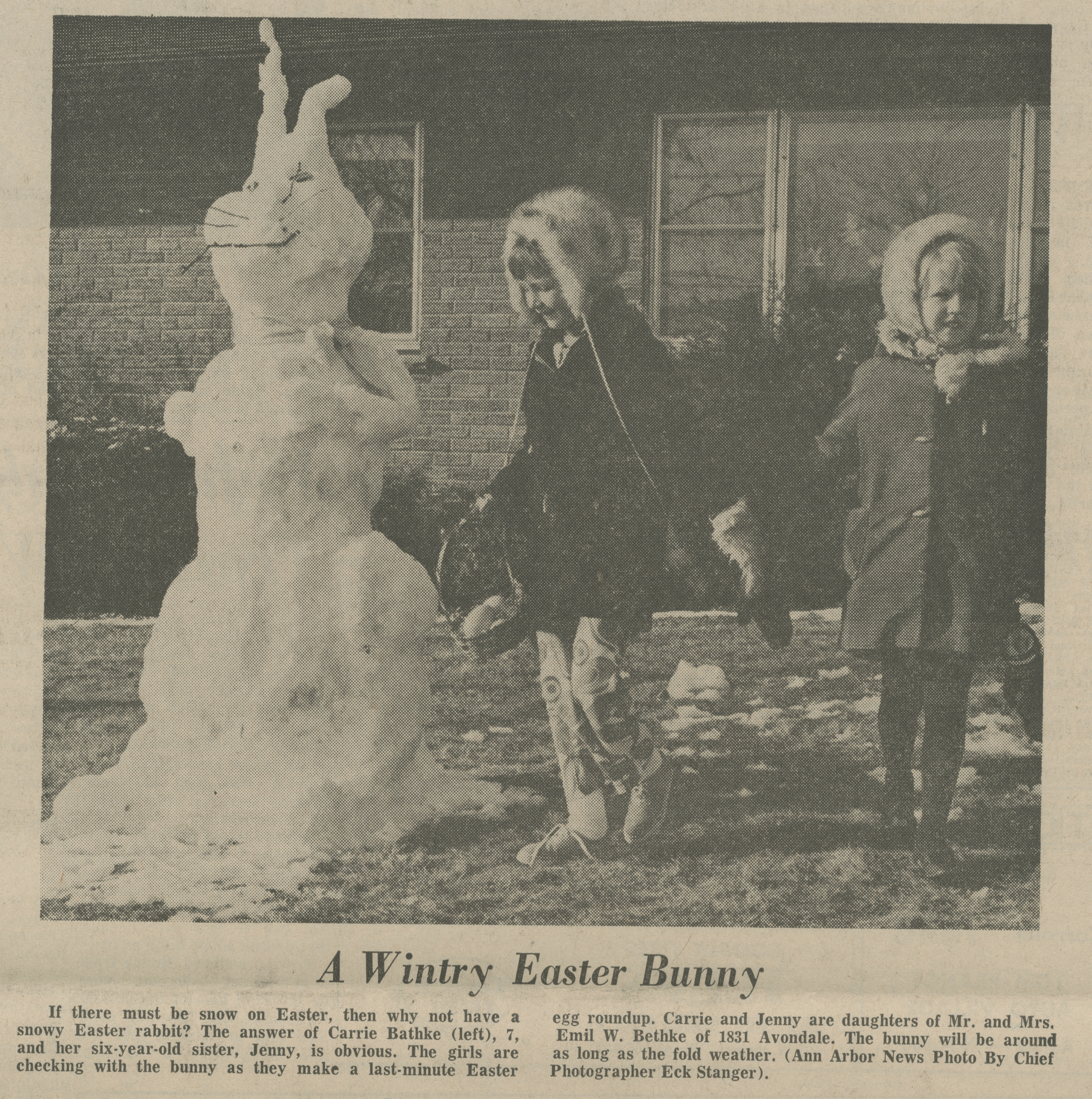 A Wintry Easter Bunny image