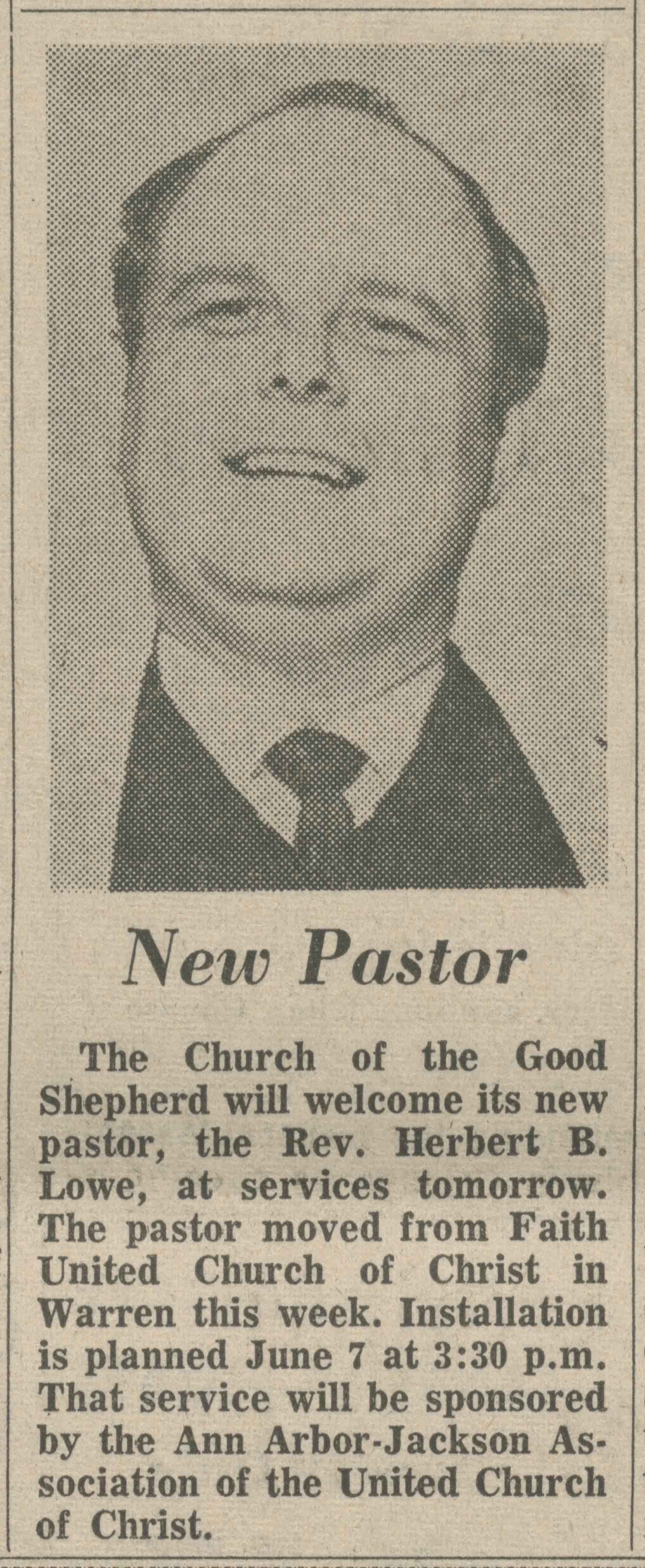 New Pastor image