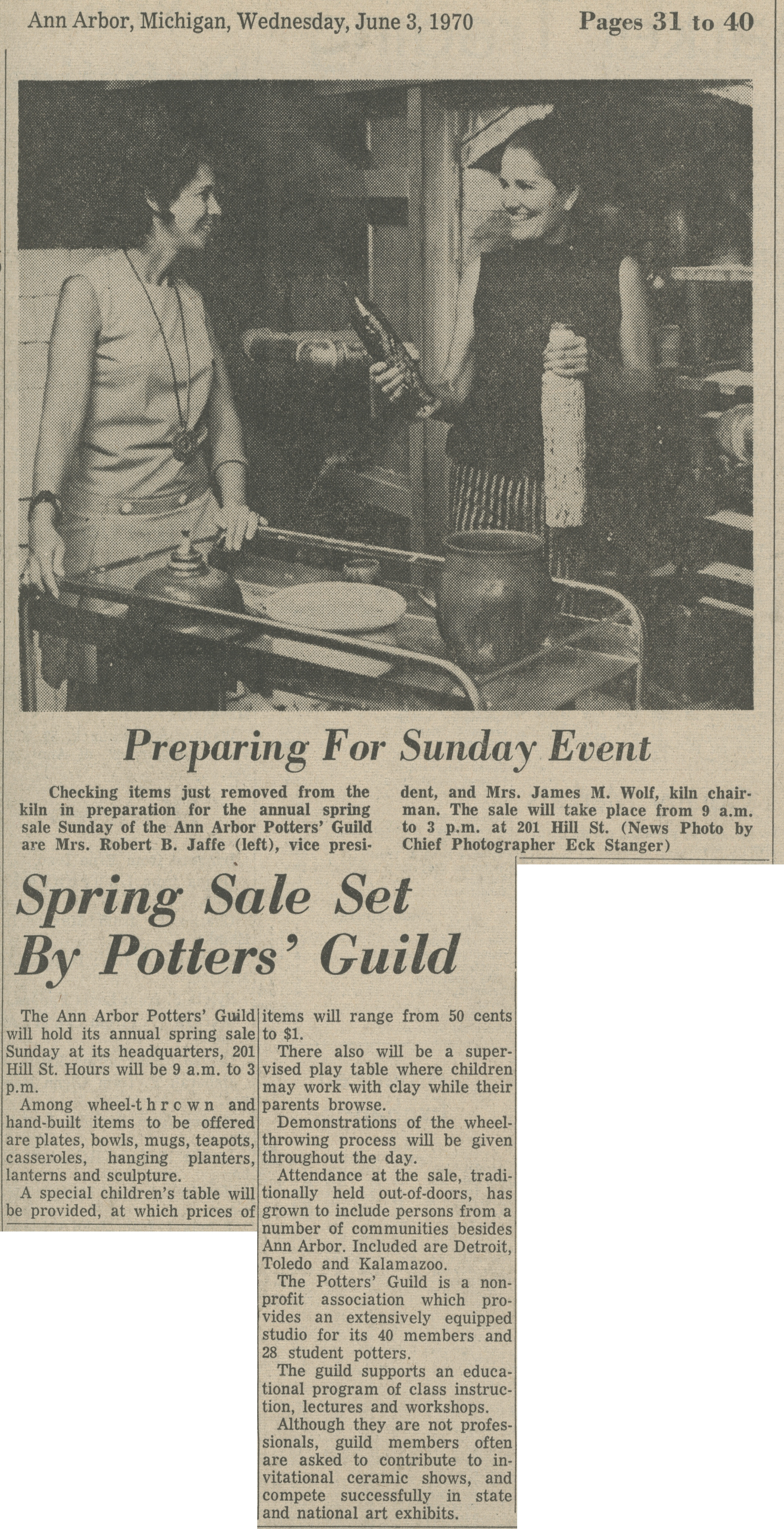 Spring Sale Set By Potters' Guild image