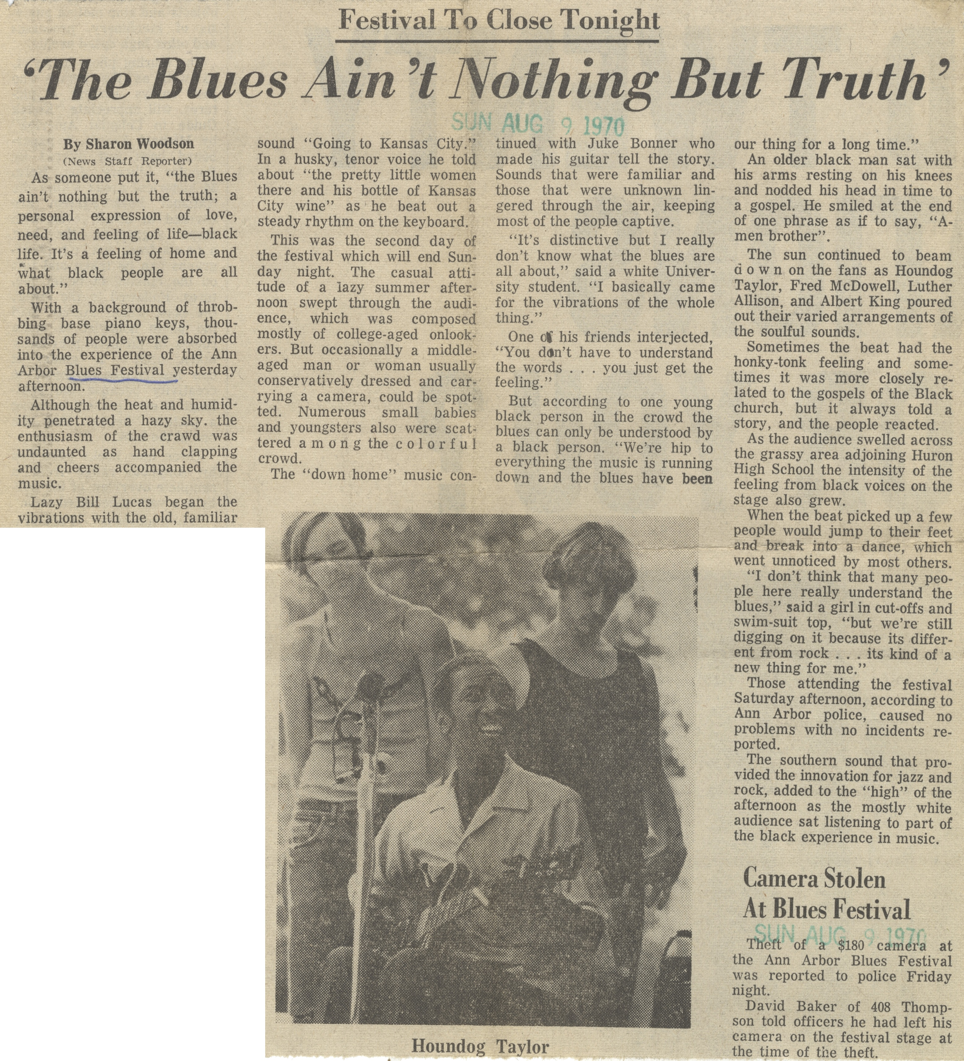 'The Blues Ain't Nothing But Truth' image