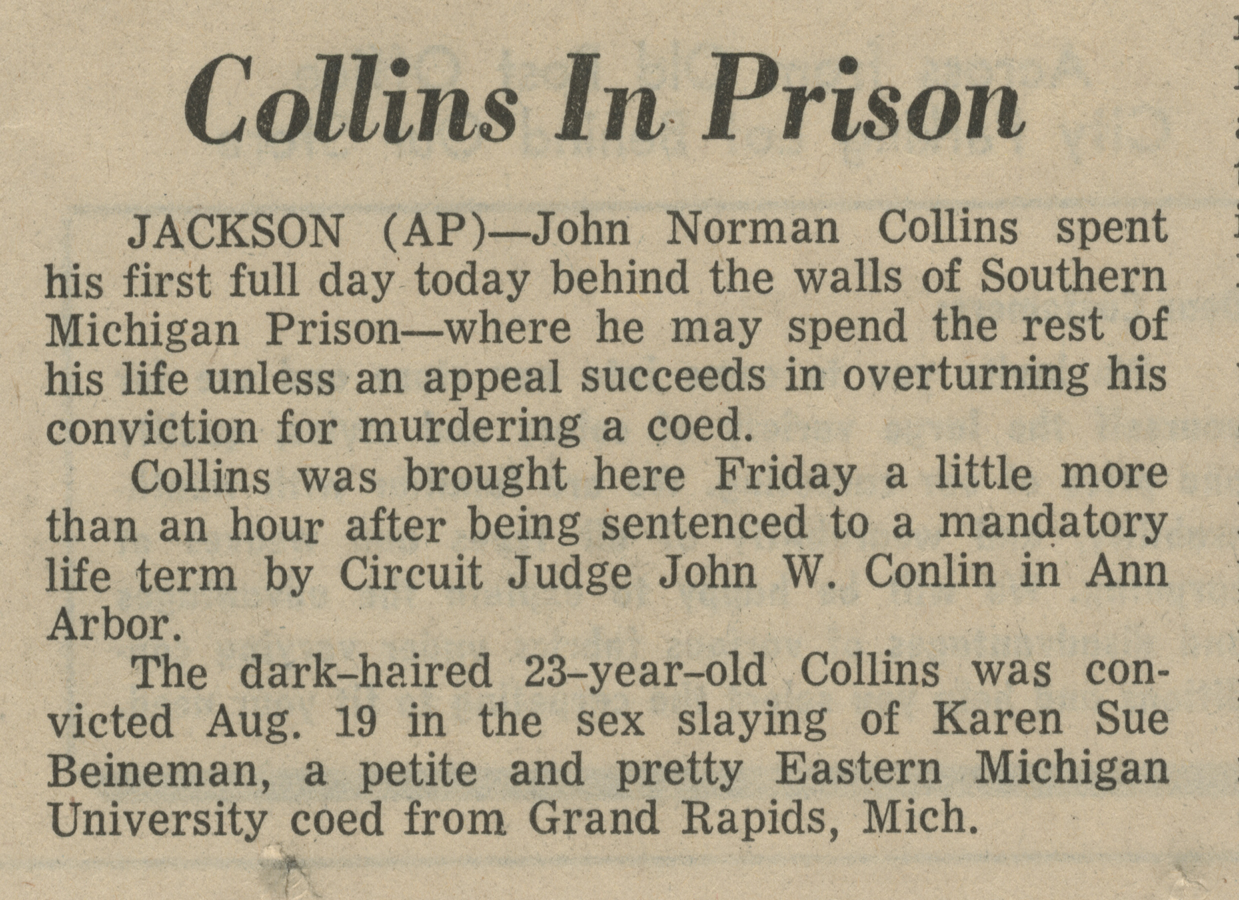 Collins In Prison image