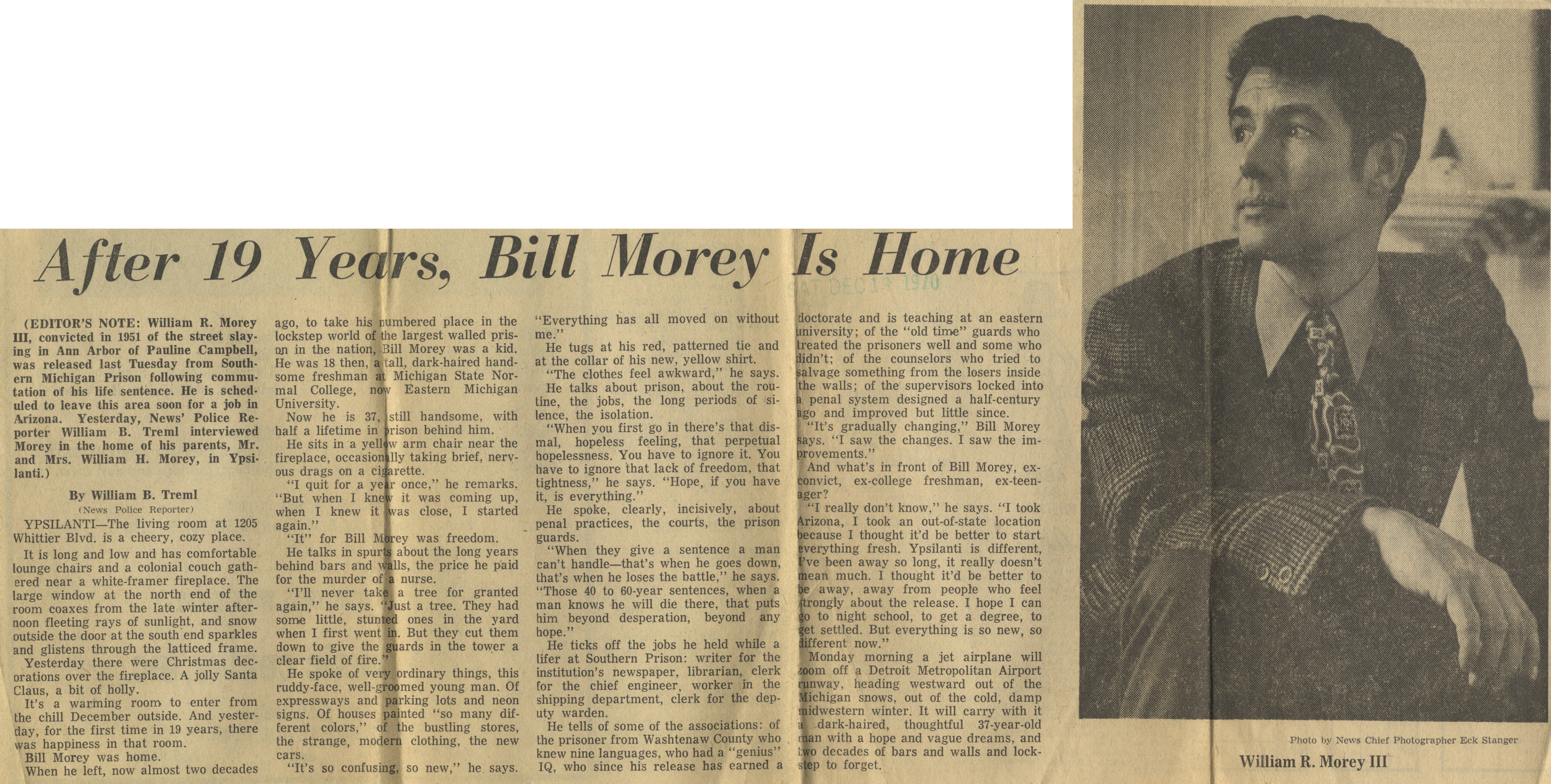 After 19 Years, Bill Morey Is Home image