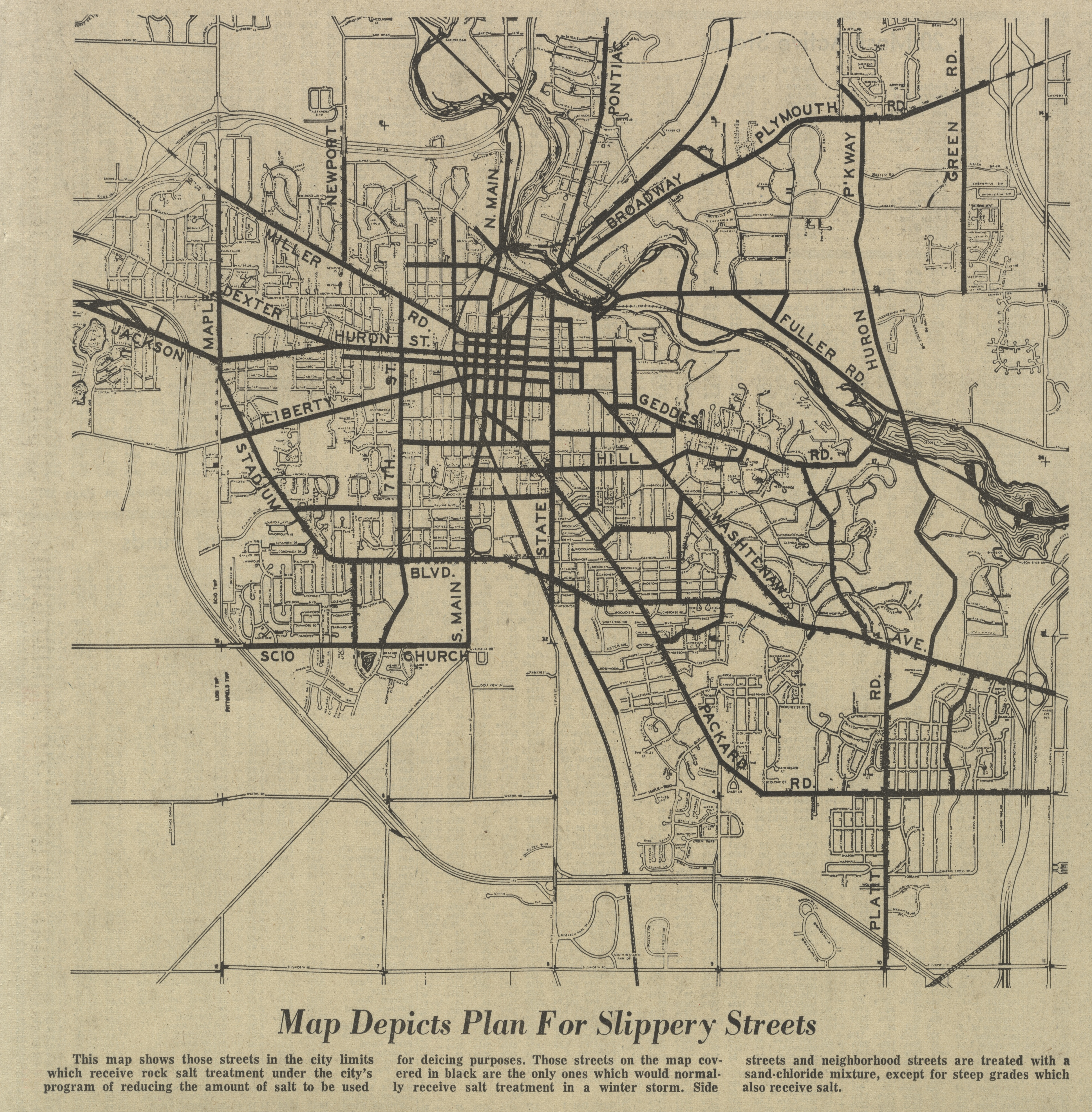Map Depicts Plan For Slippery Streets image