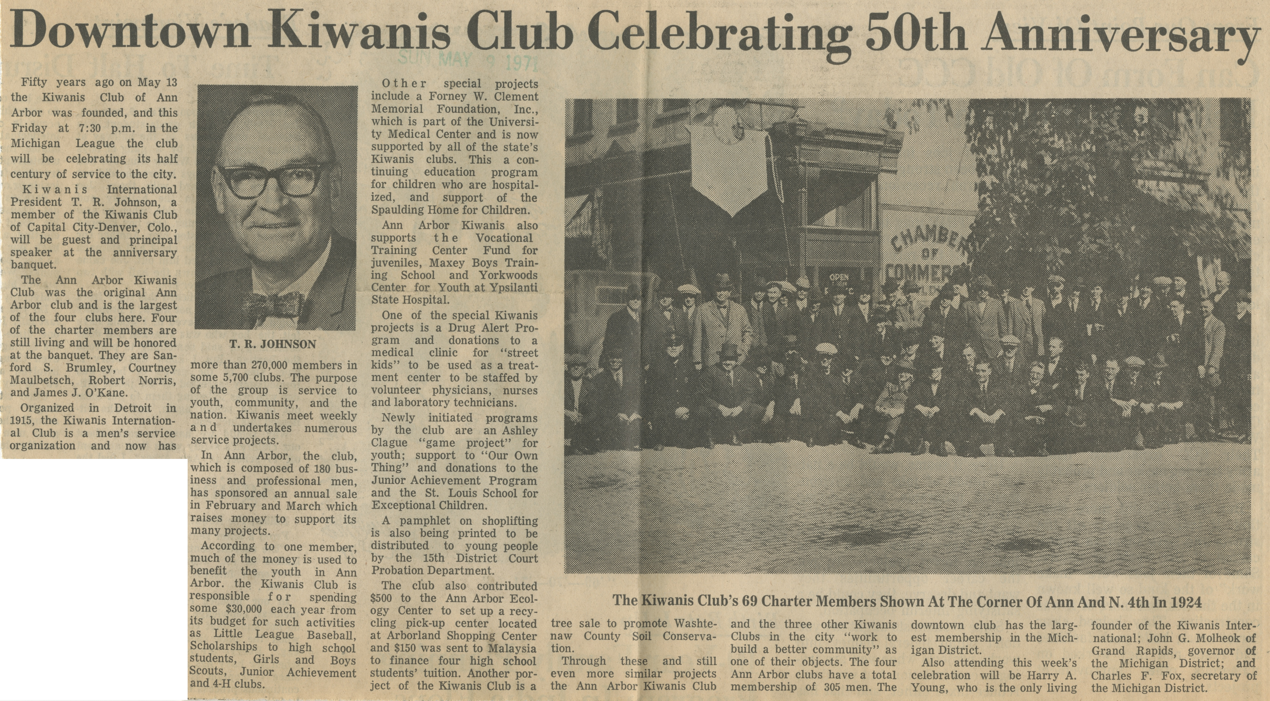 Downtown Kiwanis Club Celebrating 50th Anniversary image