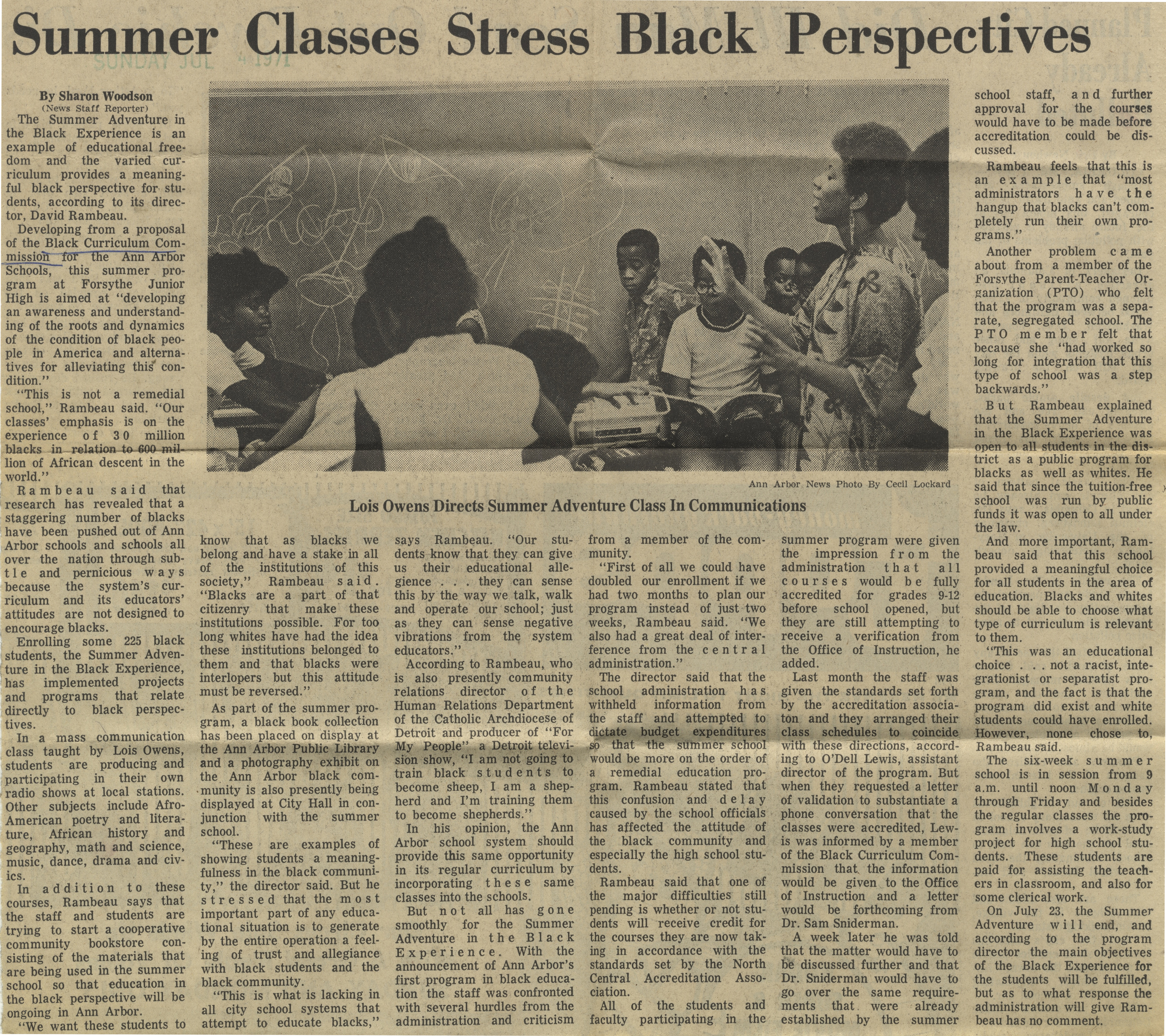 Summer Classes Stress Black Perspectives image