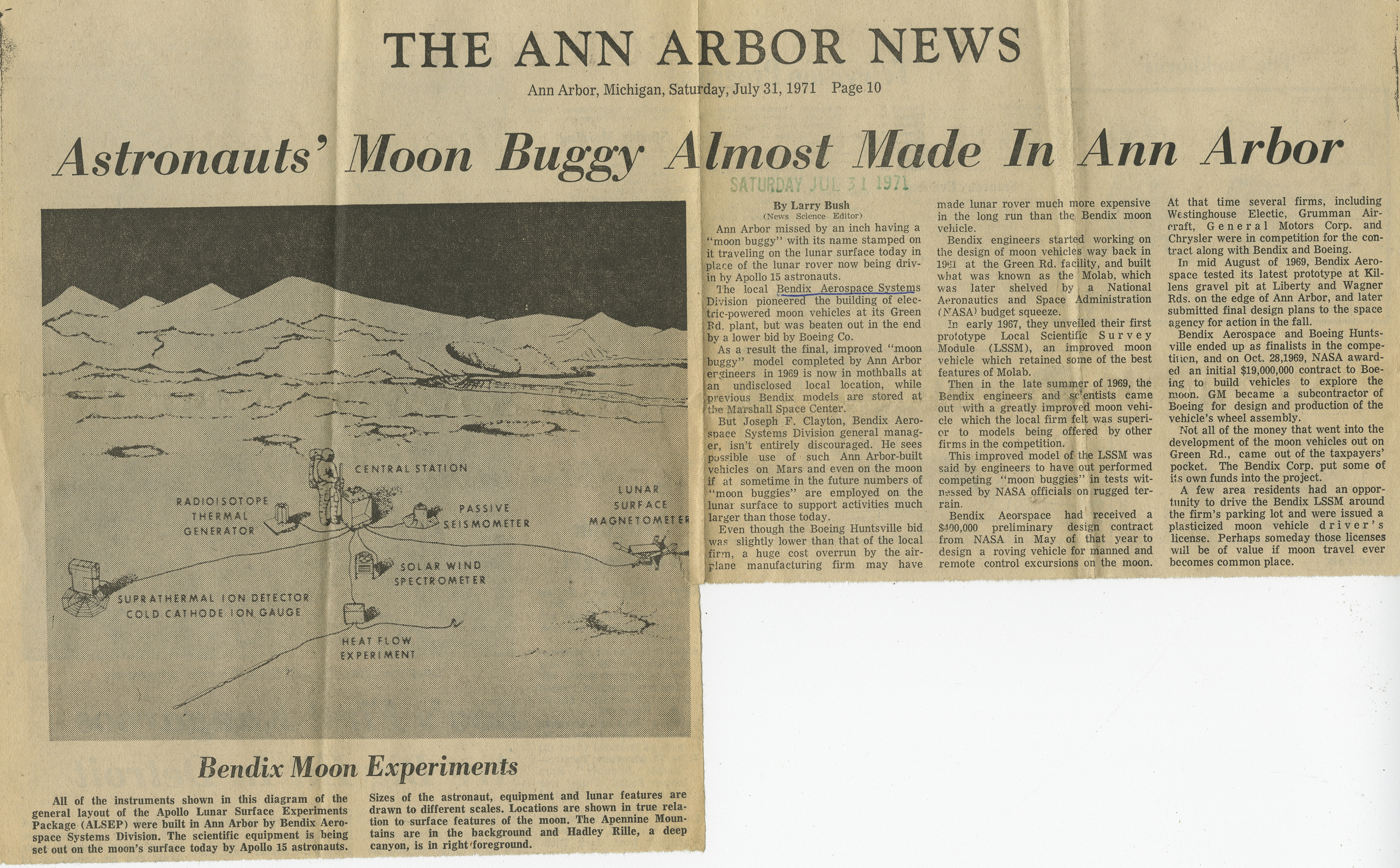 Astronauts' Moon Buggy Almost Made In Ann Arbor image
