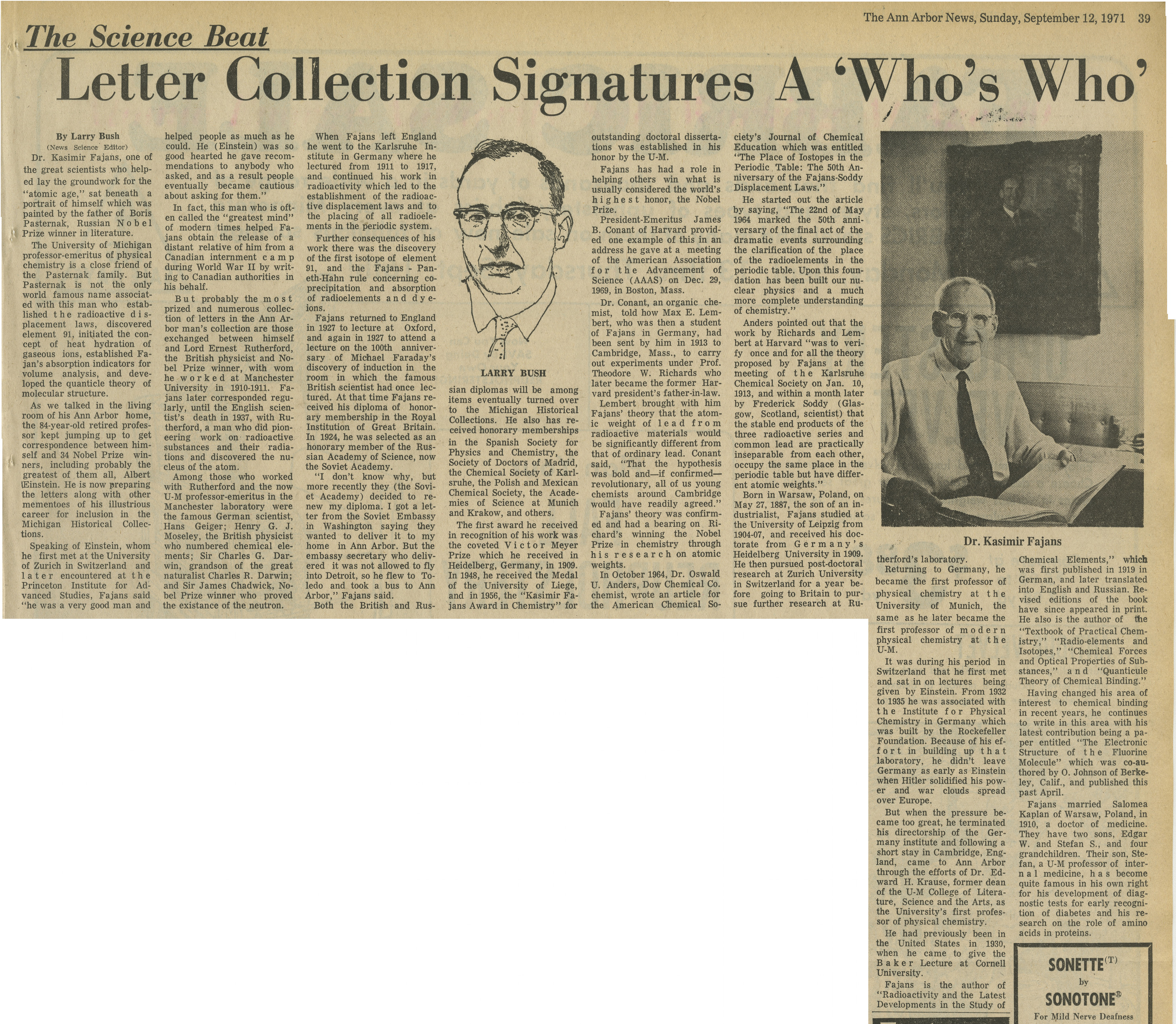Letter Collection Signatures A 'Who's Who' image