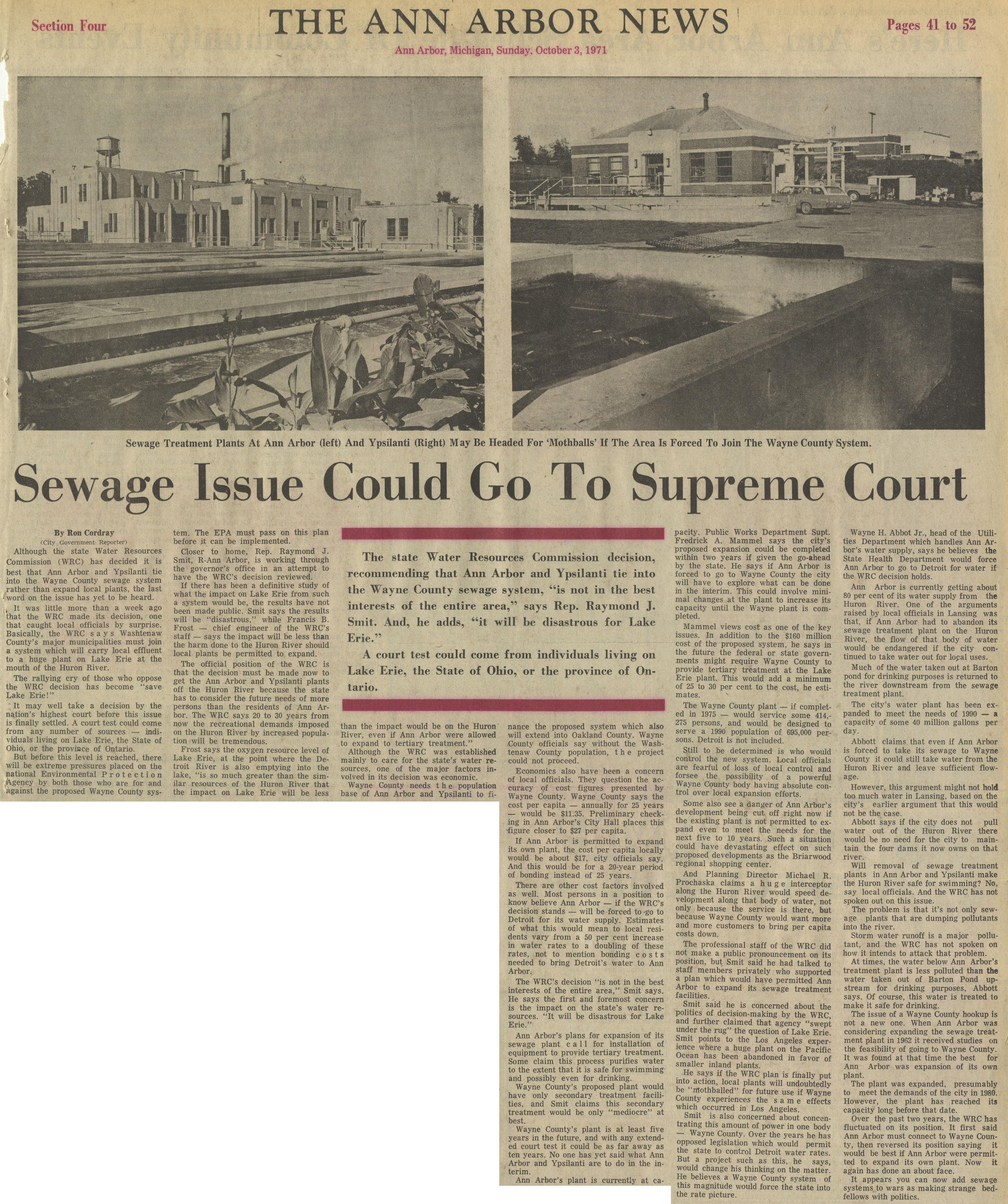 Sewage Issue Could Go To Supreme Court image