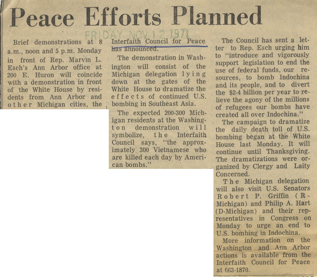 Peace Efforts Planned image
