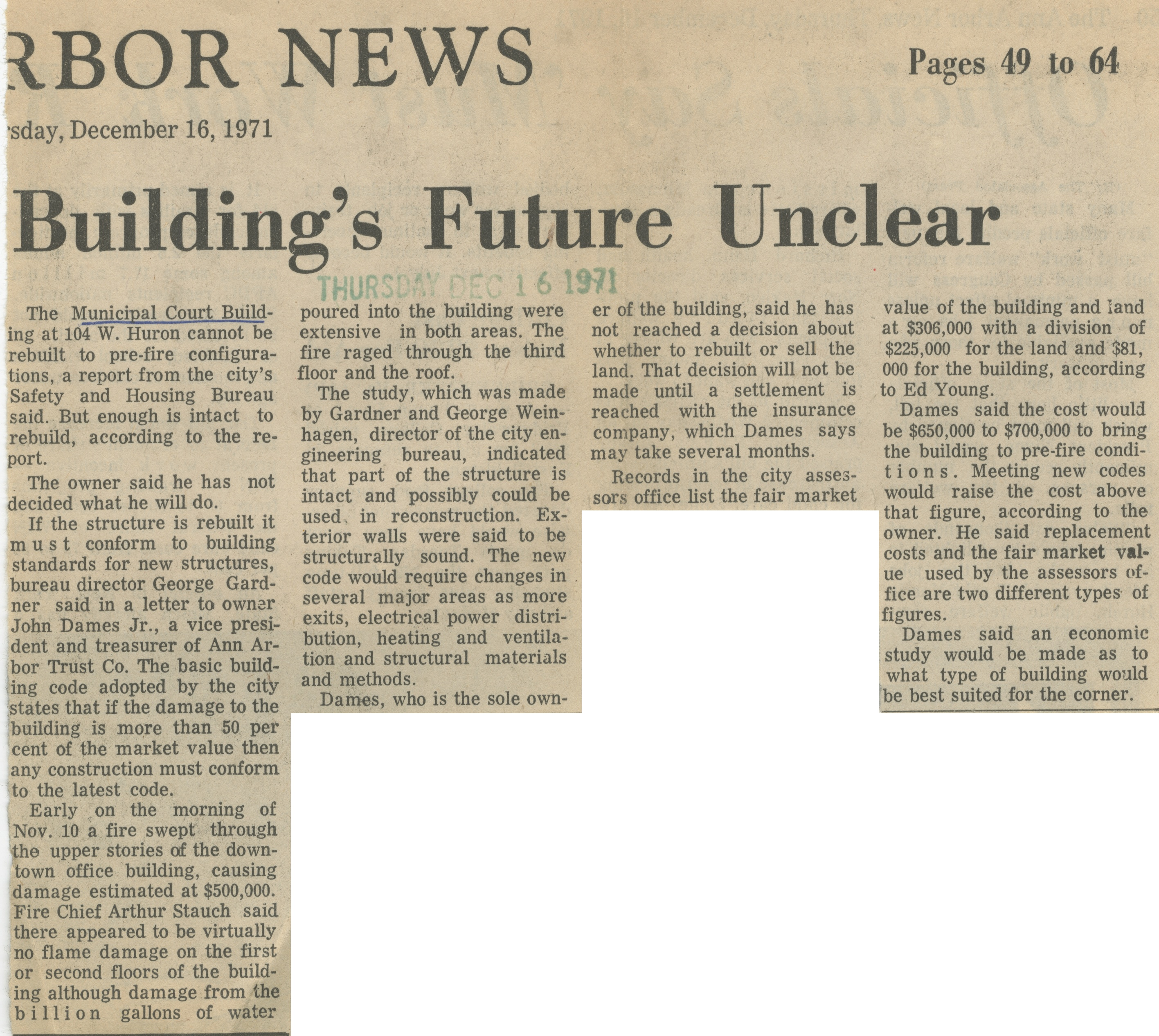 Building's Future Unclear image