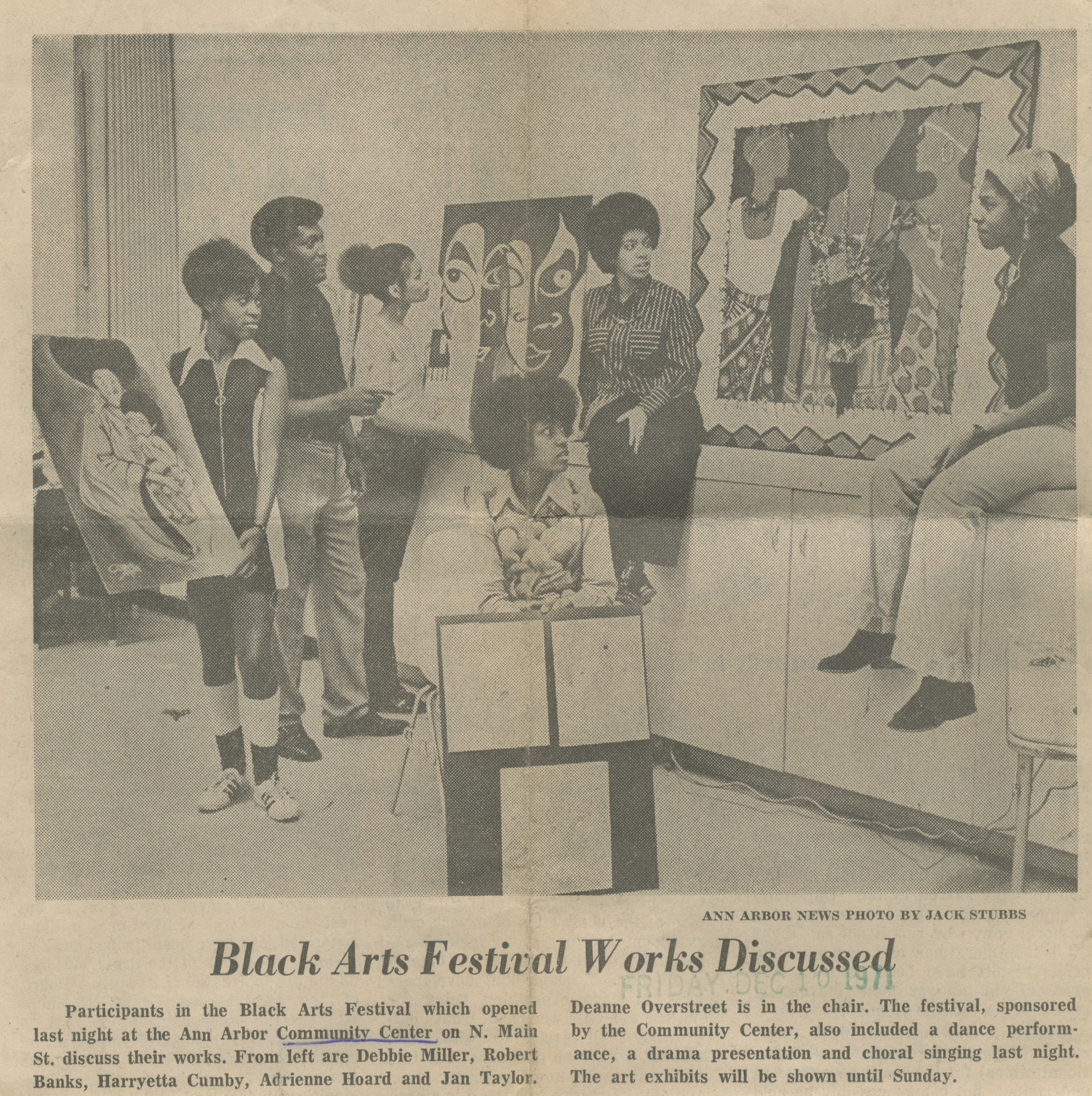 Black Arts Festival Works Discussed image
