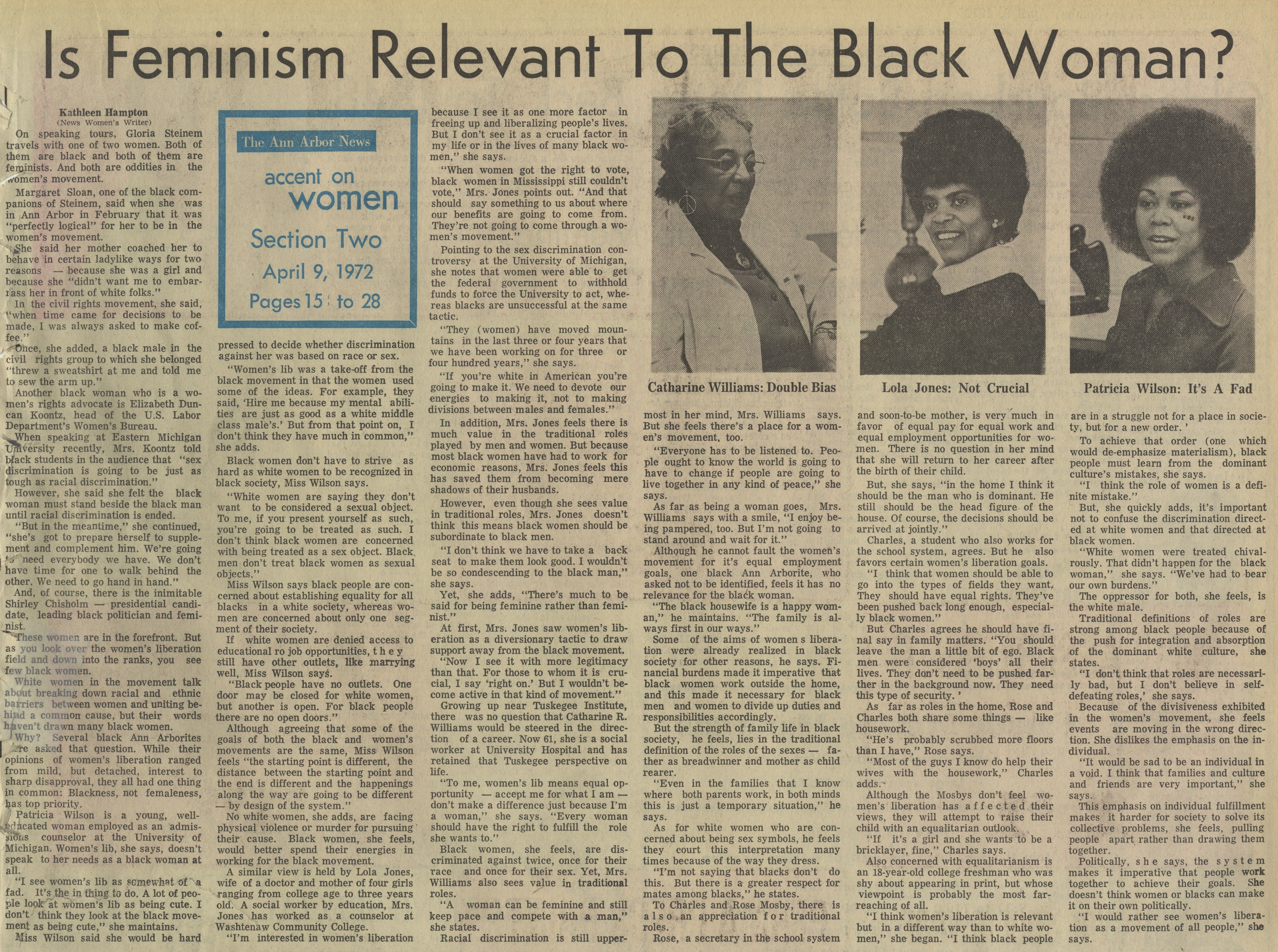 Is Feminism Relevant To The Black Woman? image