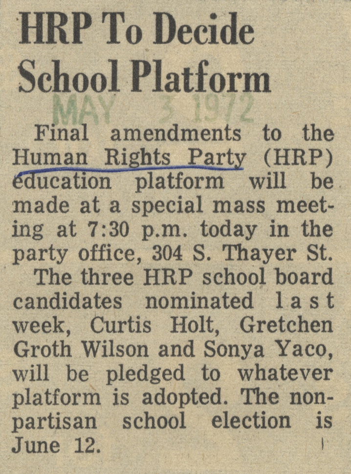 HRP To Decide School Platform image