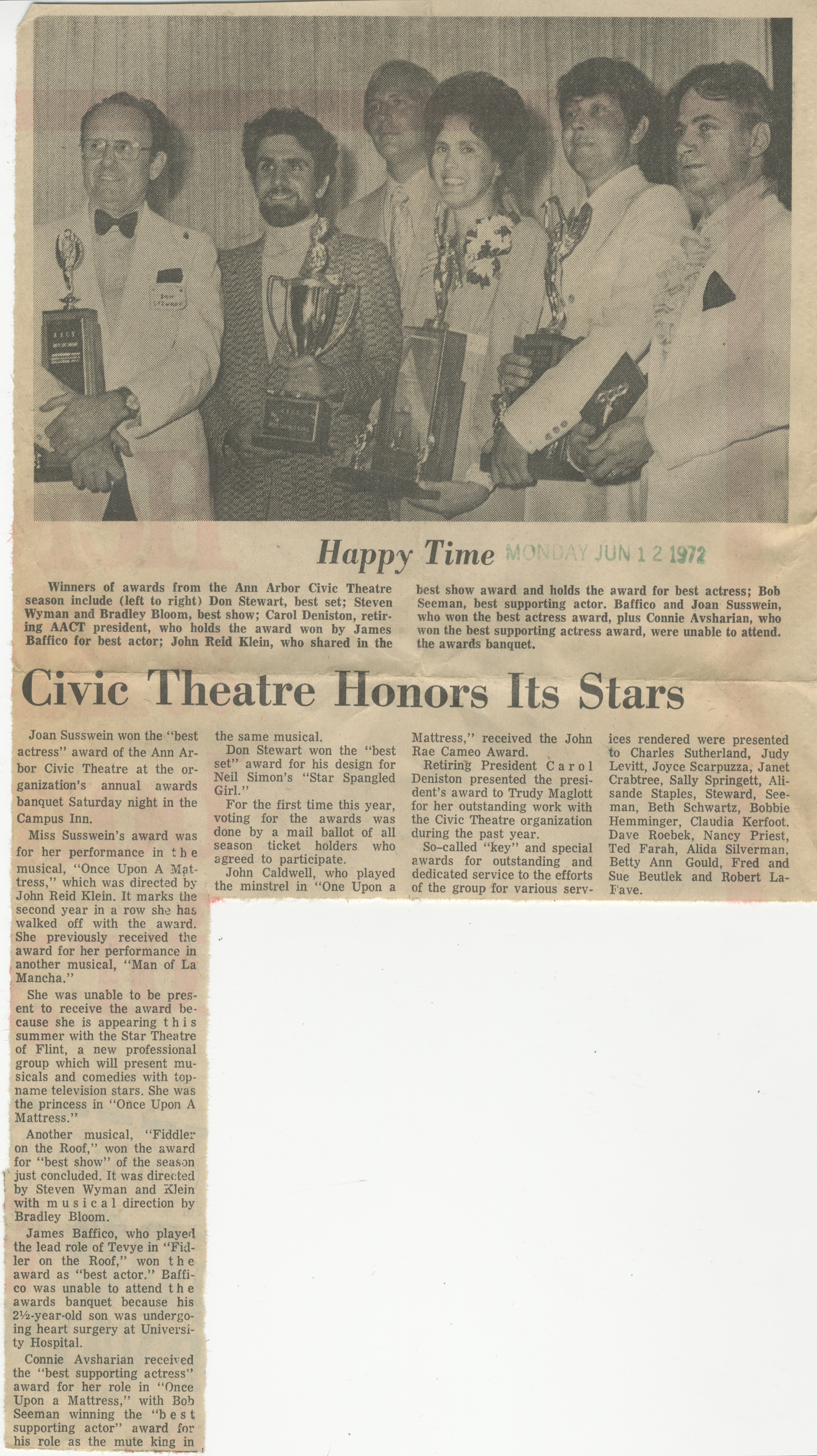 Civic Theatre Honors Its Stars image