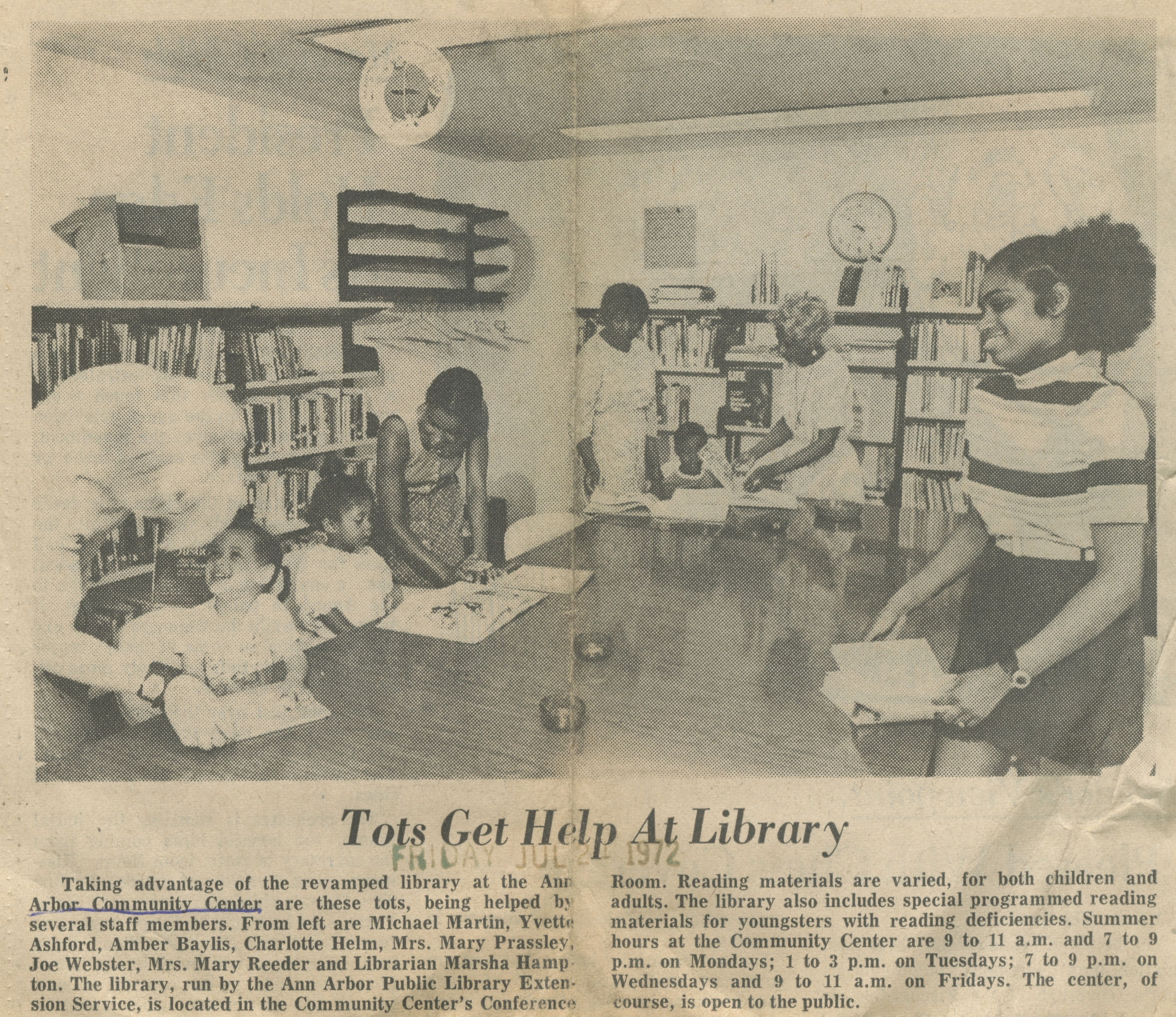 Tots Get Help At Library image