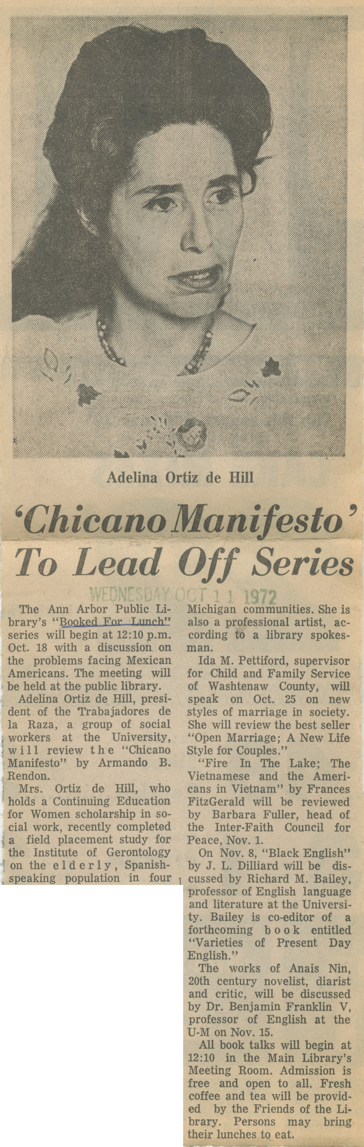 """Chicano Manifesto"" To Lead Off Series image"