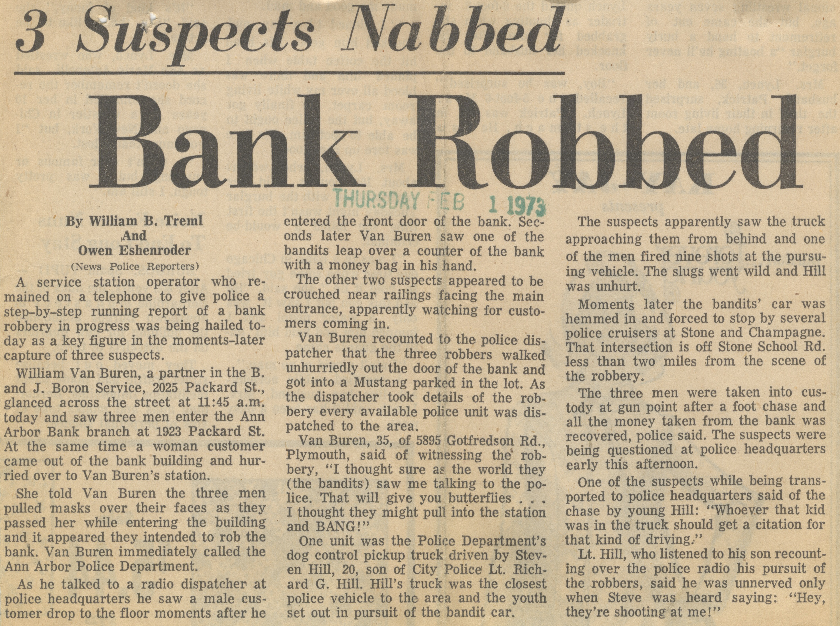 Bank Robbed image