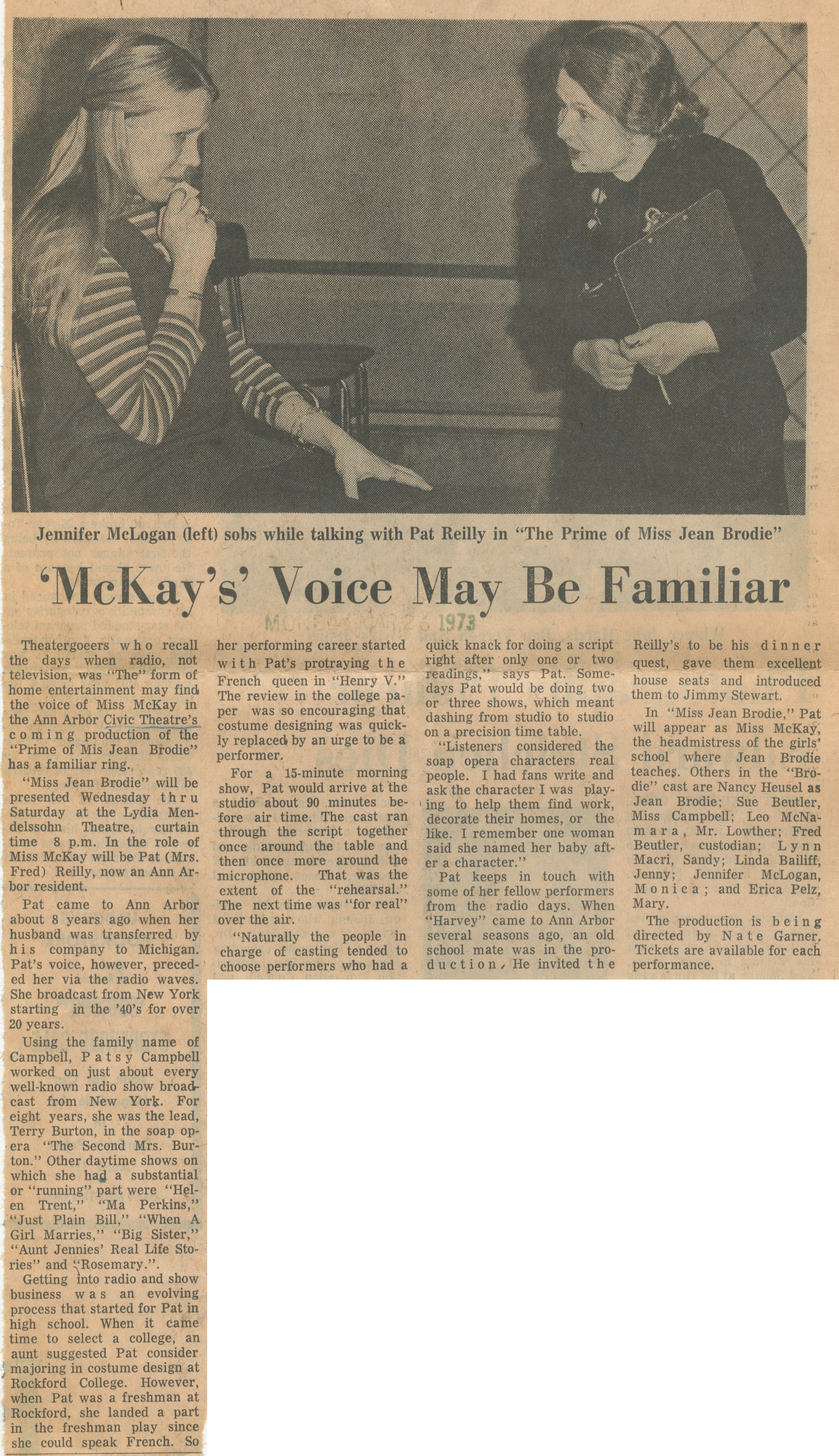 'McKay's' Voice May Be Familiar image