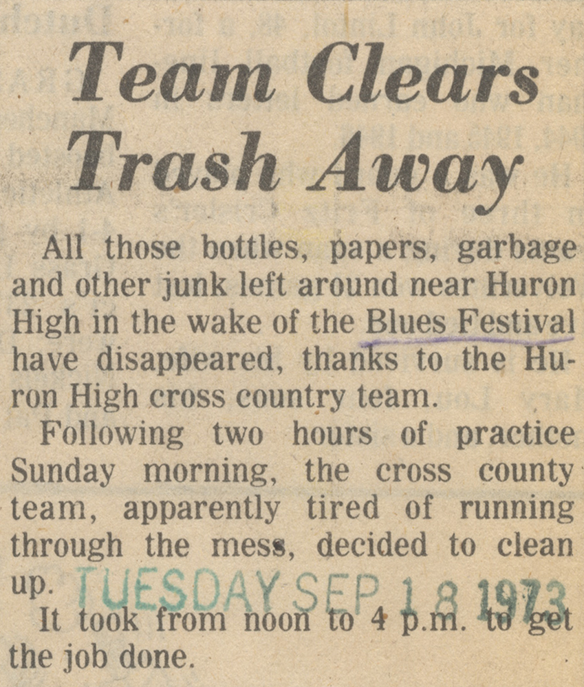 Team Clears Trash Away image