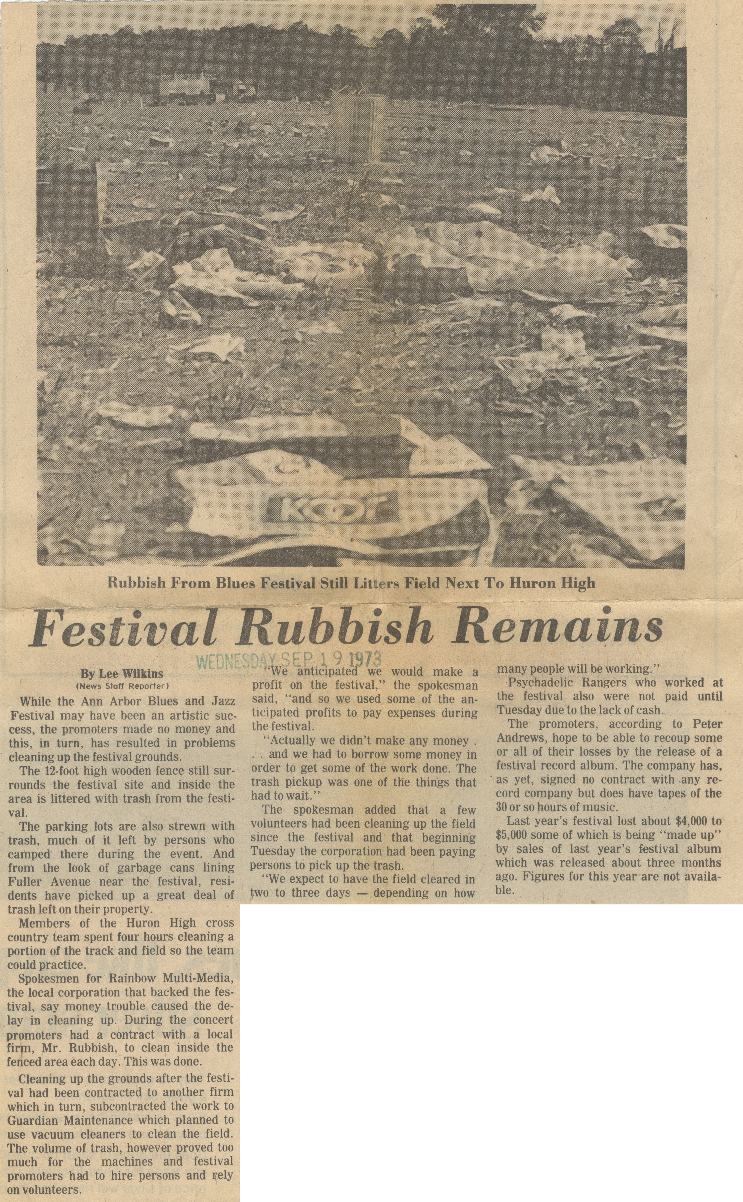 Festival Rubbish Remains image