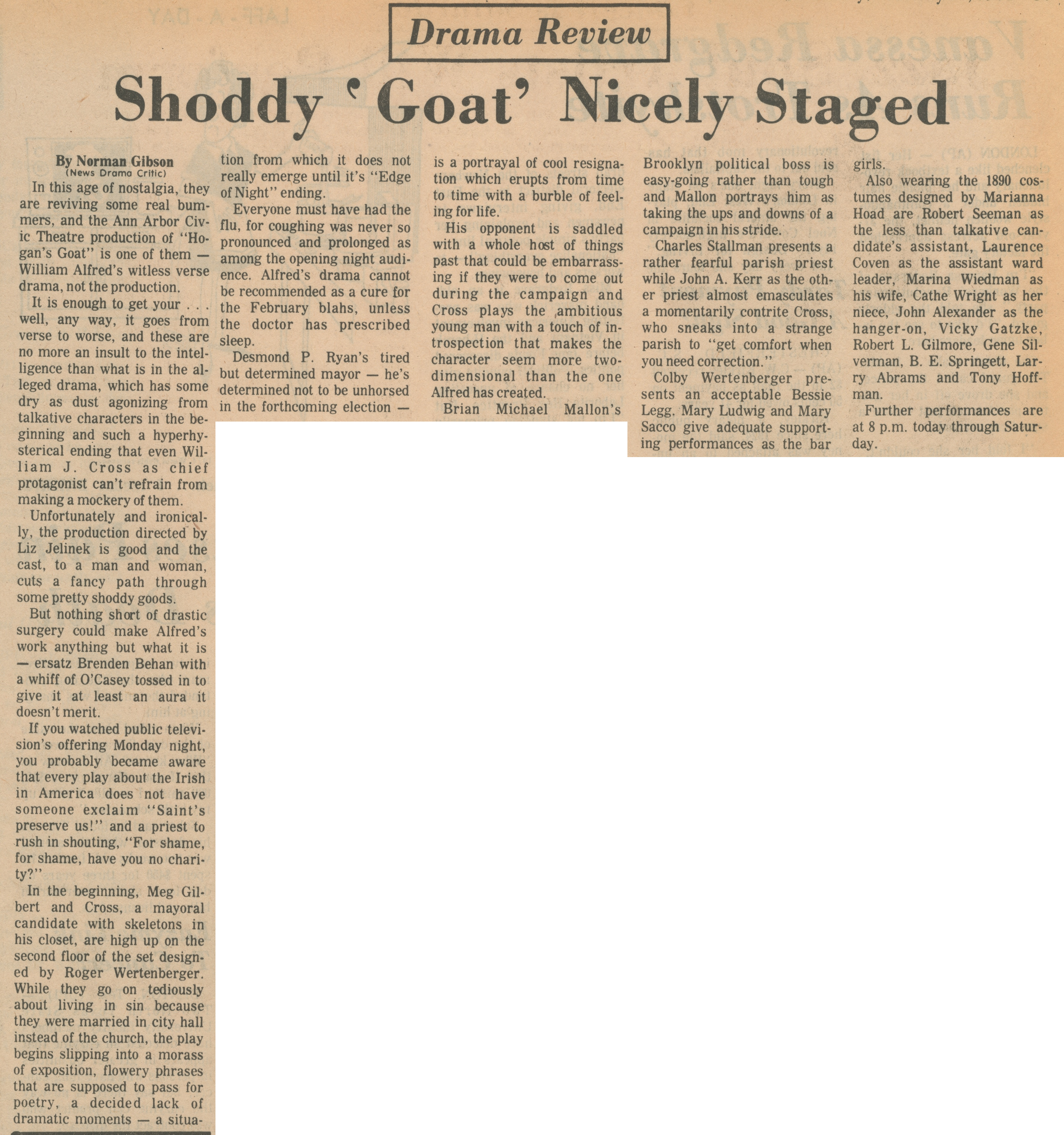 Shoddy 'Goat' Nicely Staged image