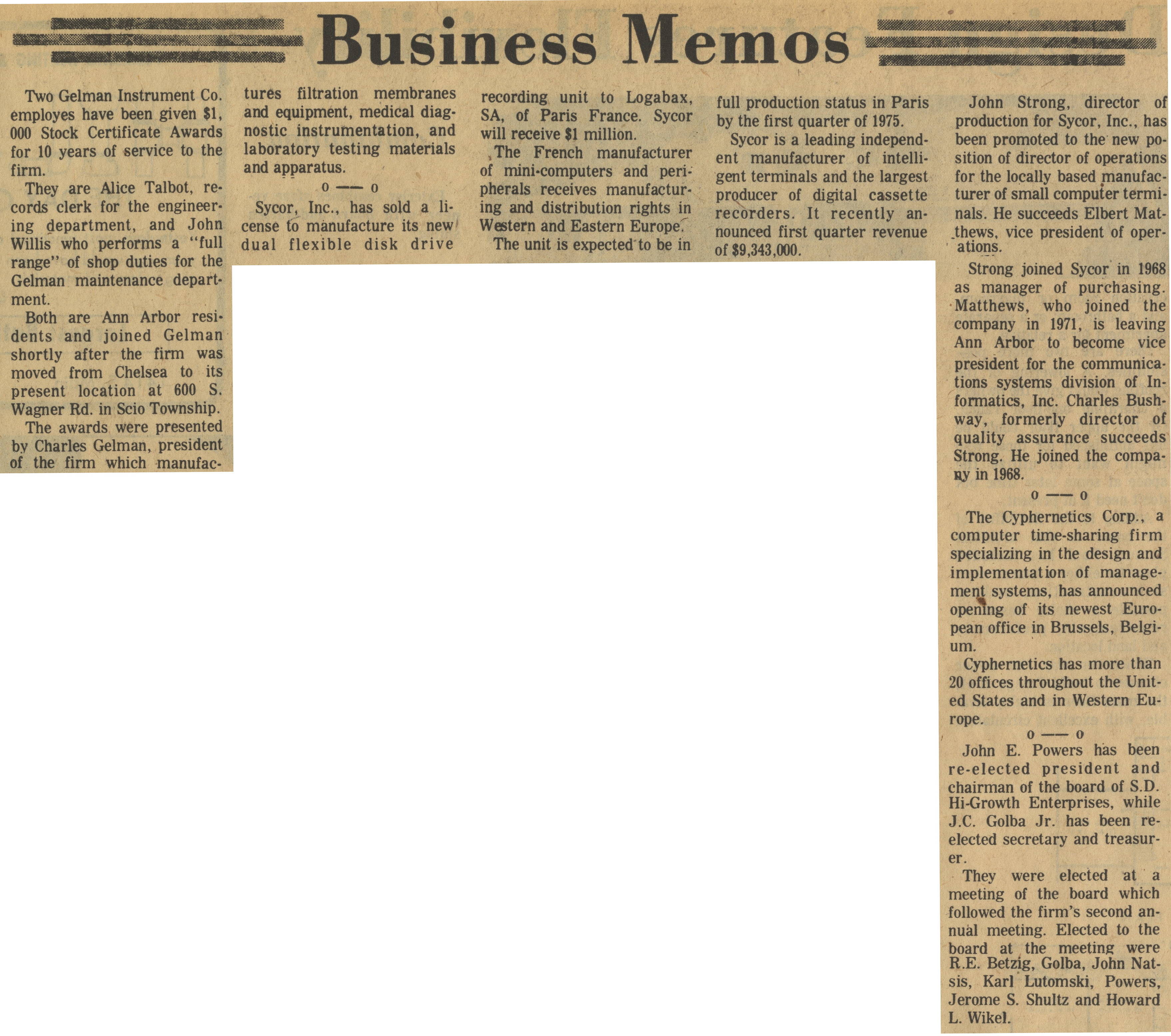Business Memos image