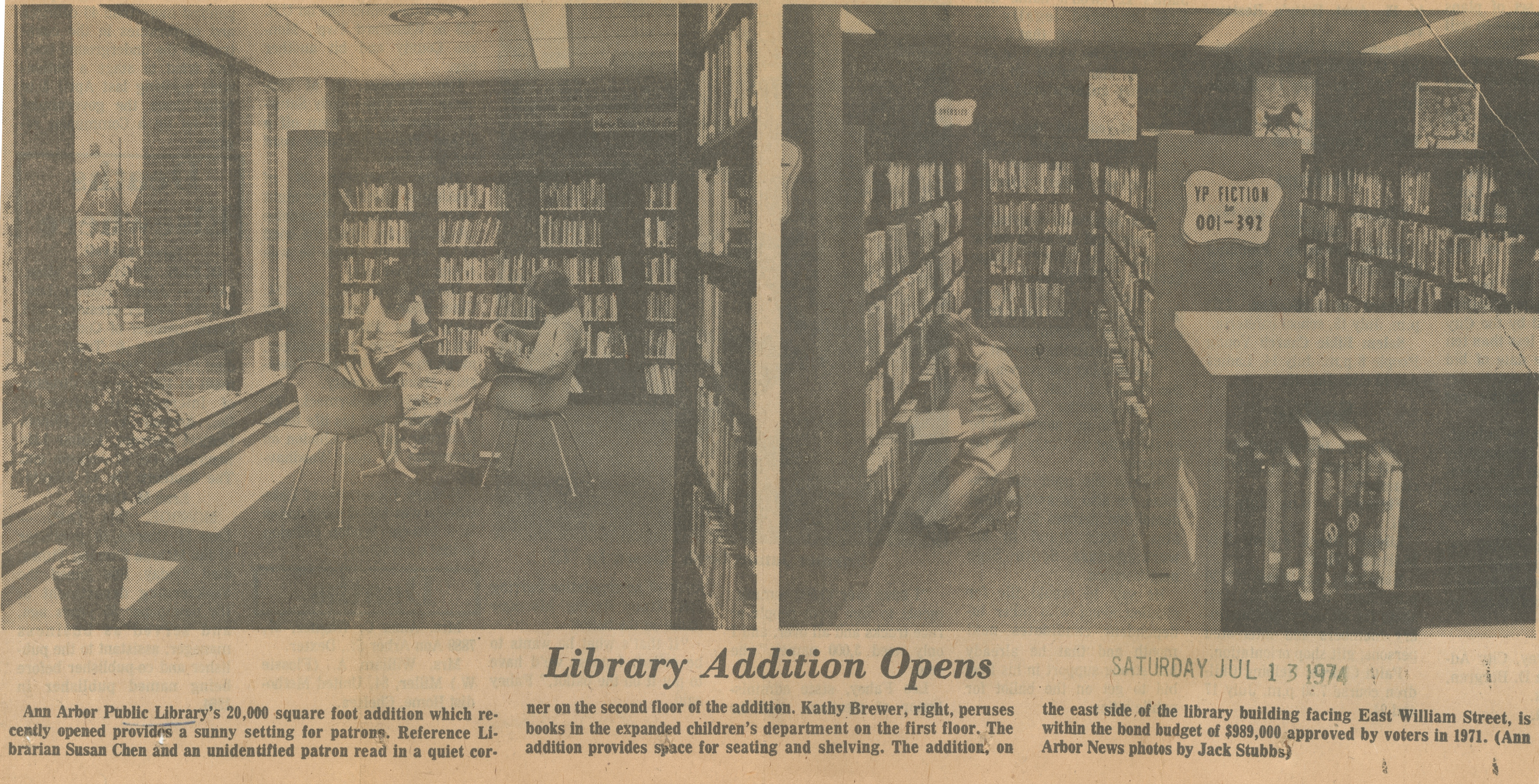 Library Addition Opens image