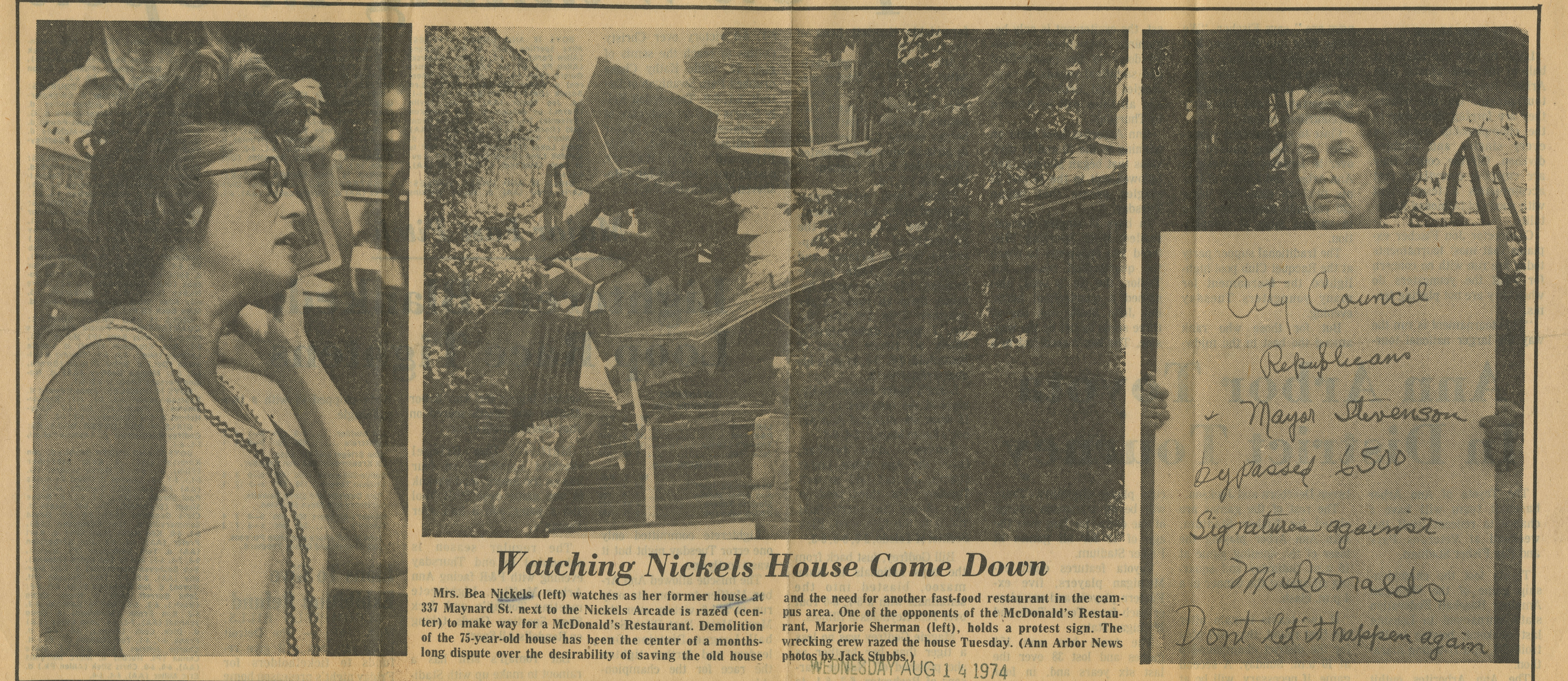 Watching Nickels House Come Down image