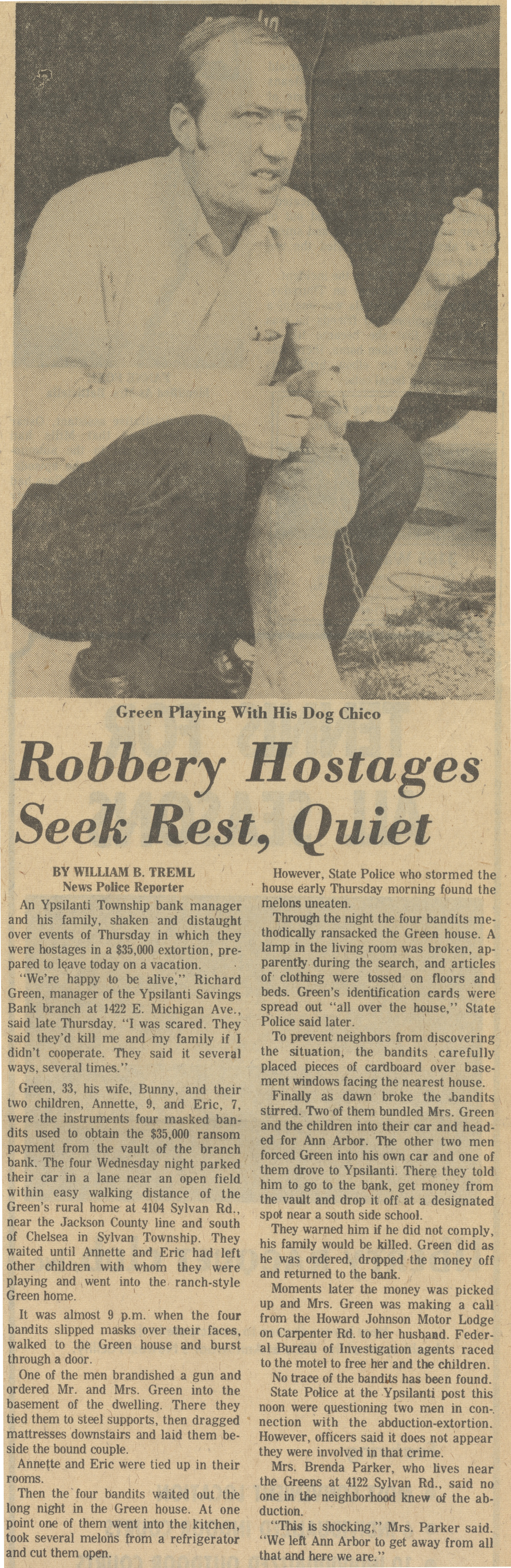 Robbery Hostages Seek Rest, Quiet image