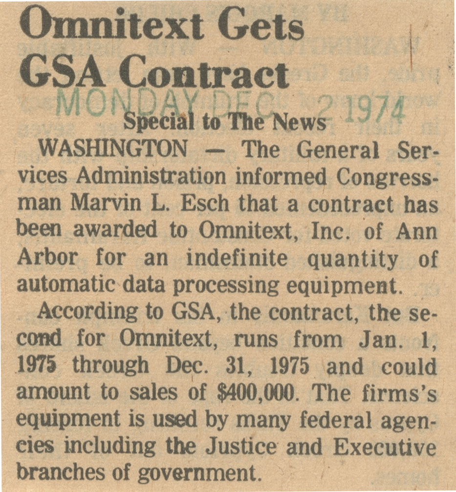 Omnitext Gets GSA Contract image