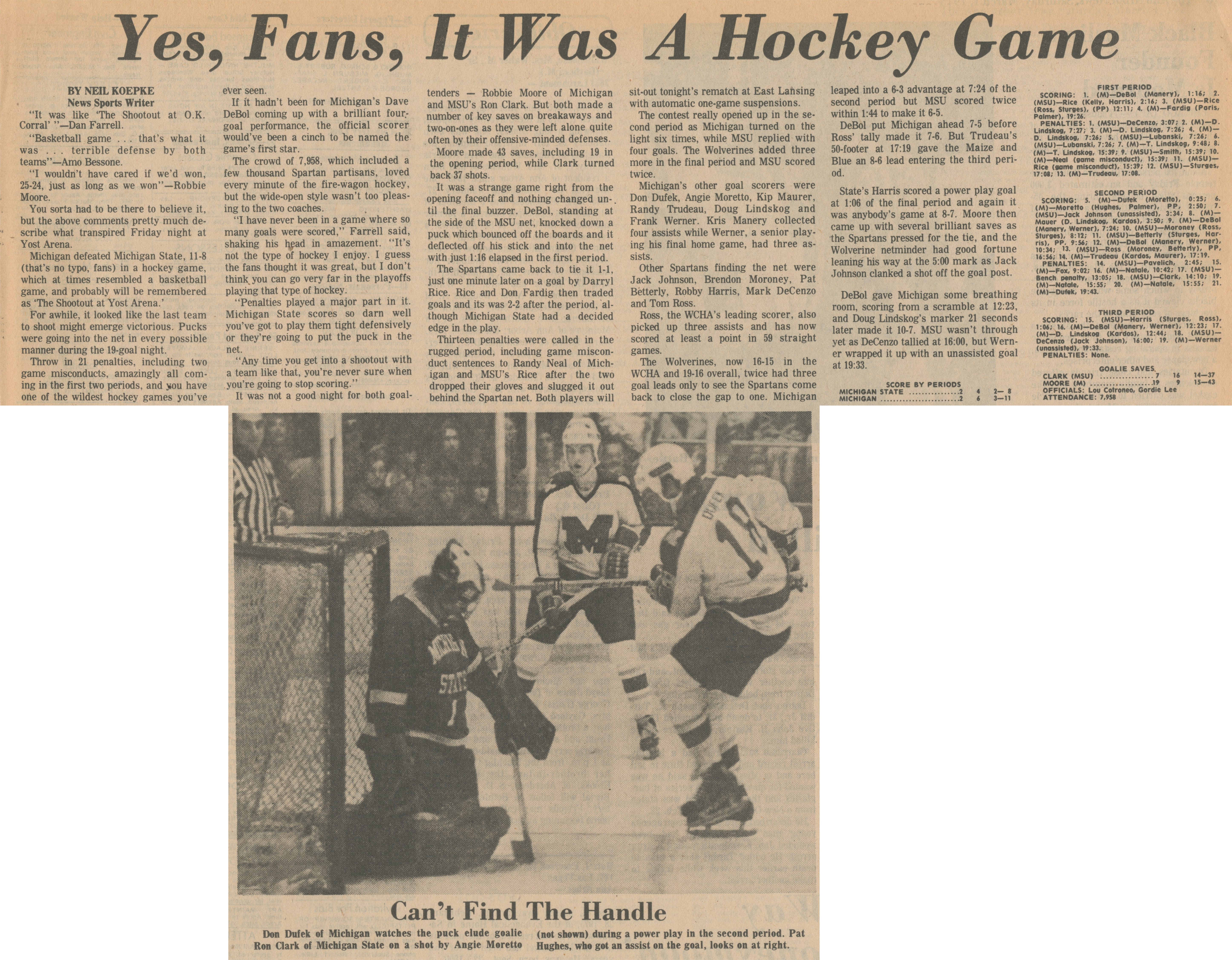 Yes, Fans, It Was A Hockey Game image