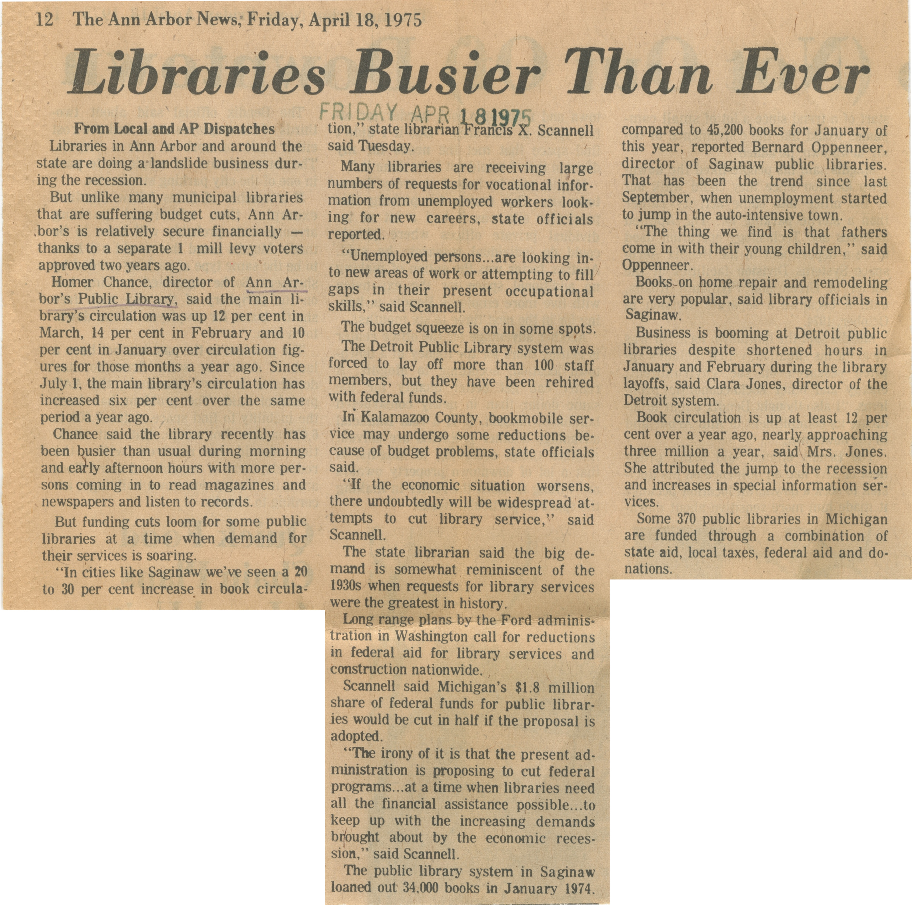 Libraries Busier Than Ever image