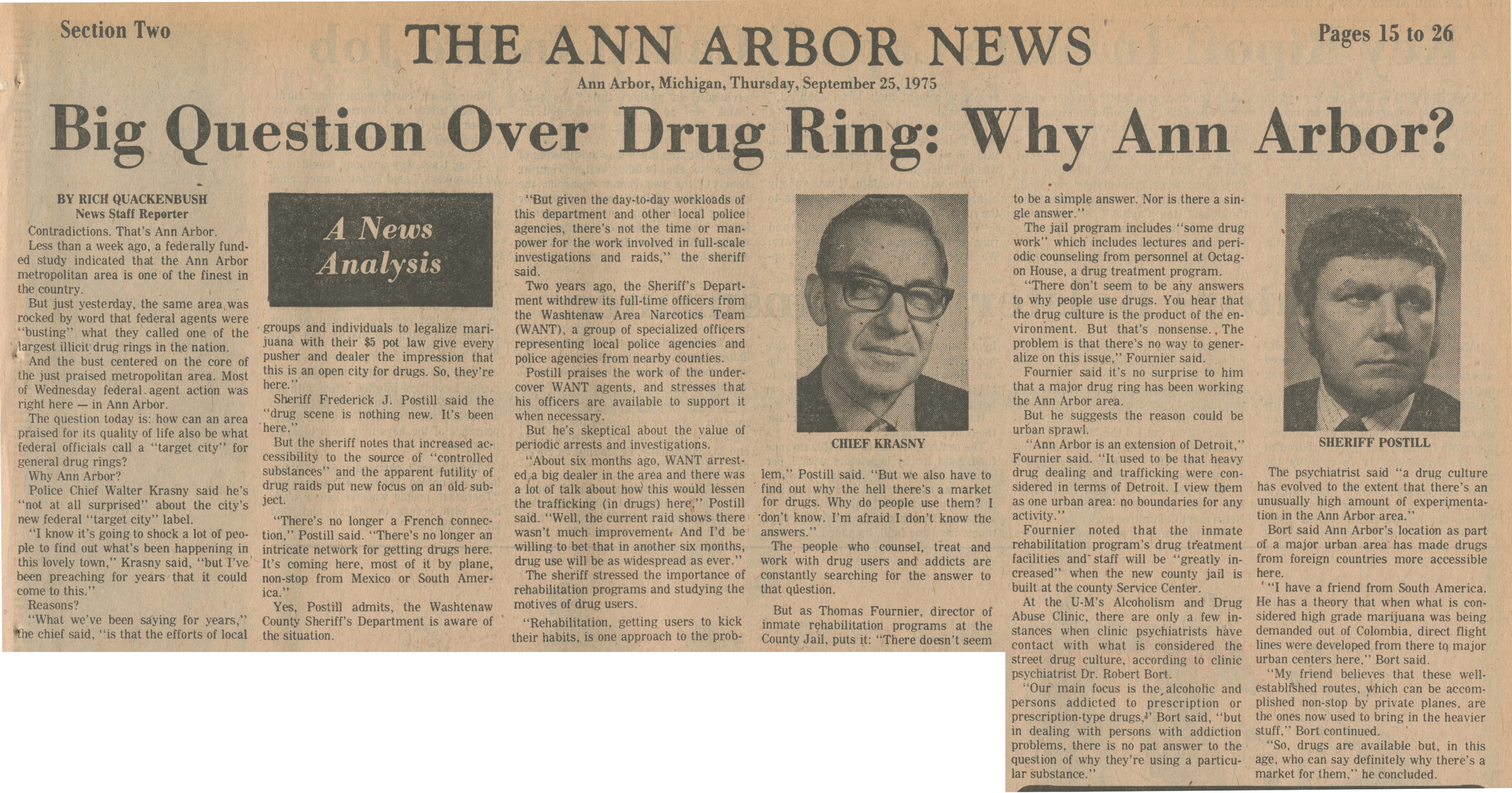 Big Question Over Drug Ring:  Why Ann Arbor? image