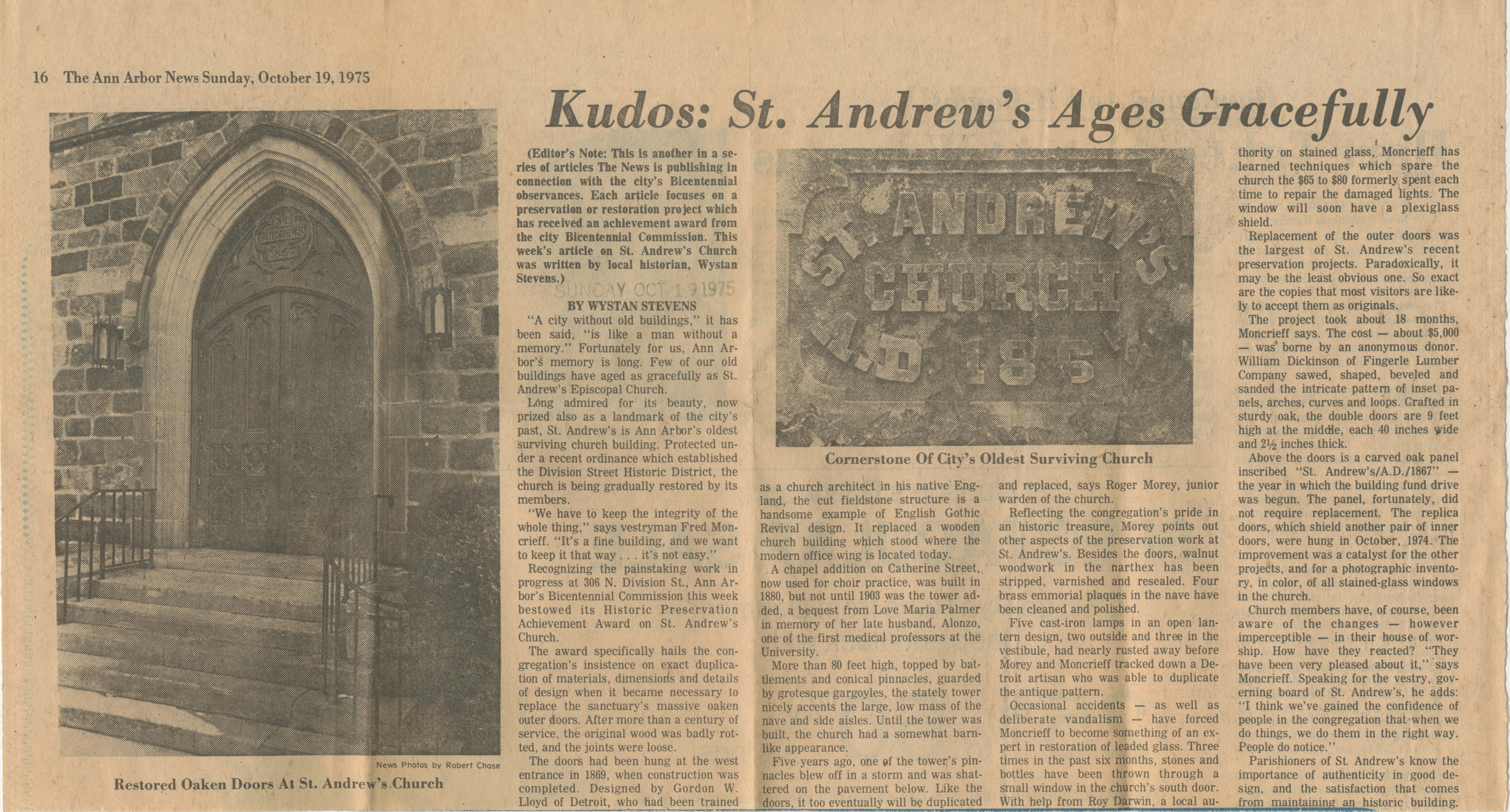 Kudos:  St. Andrew's Ages Gracefully image