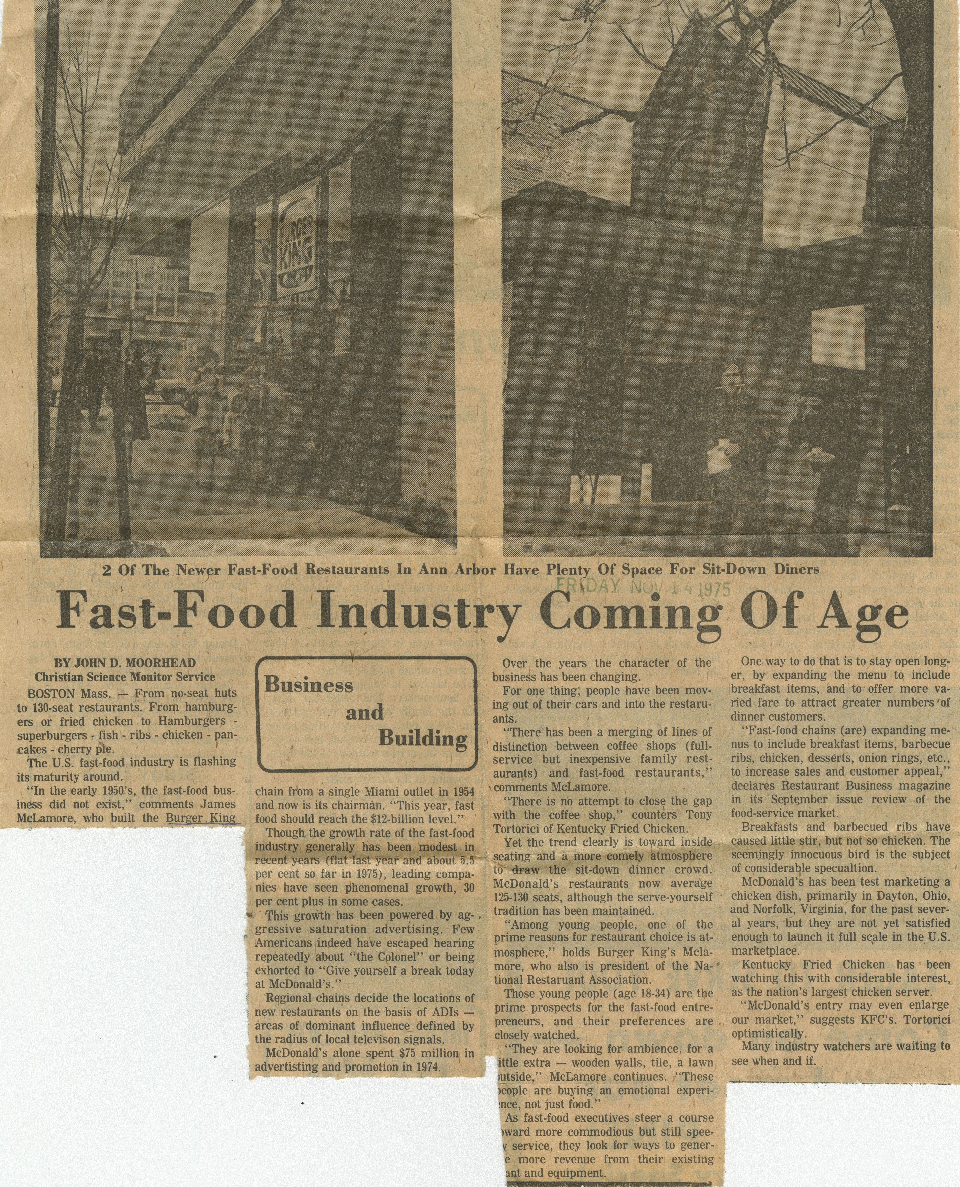 Fast-Food Industry Coming Of Age image