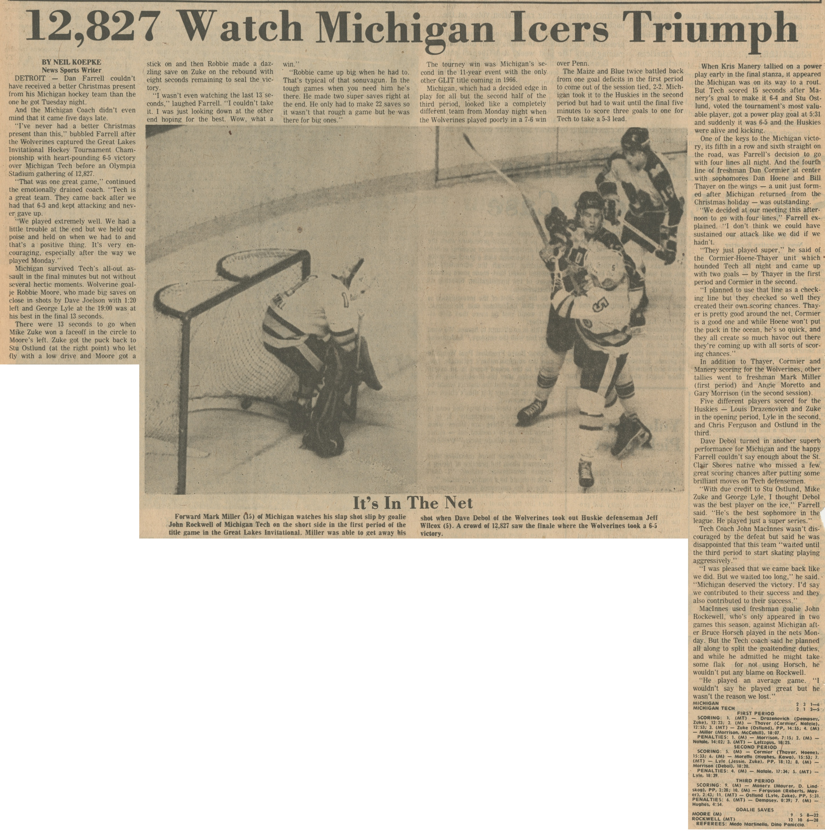 12,827 Watch Michigan Icers Triumph | Ann Arbor District Library
