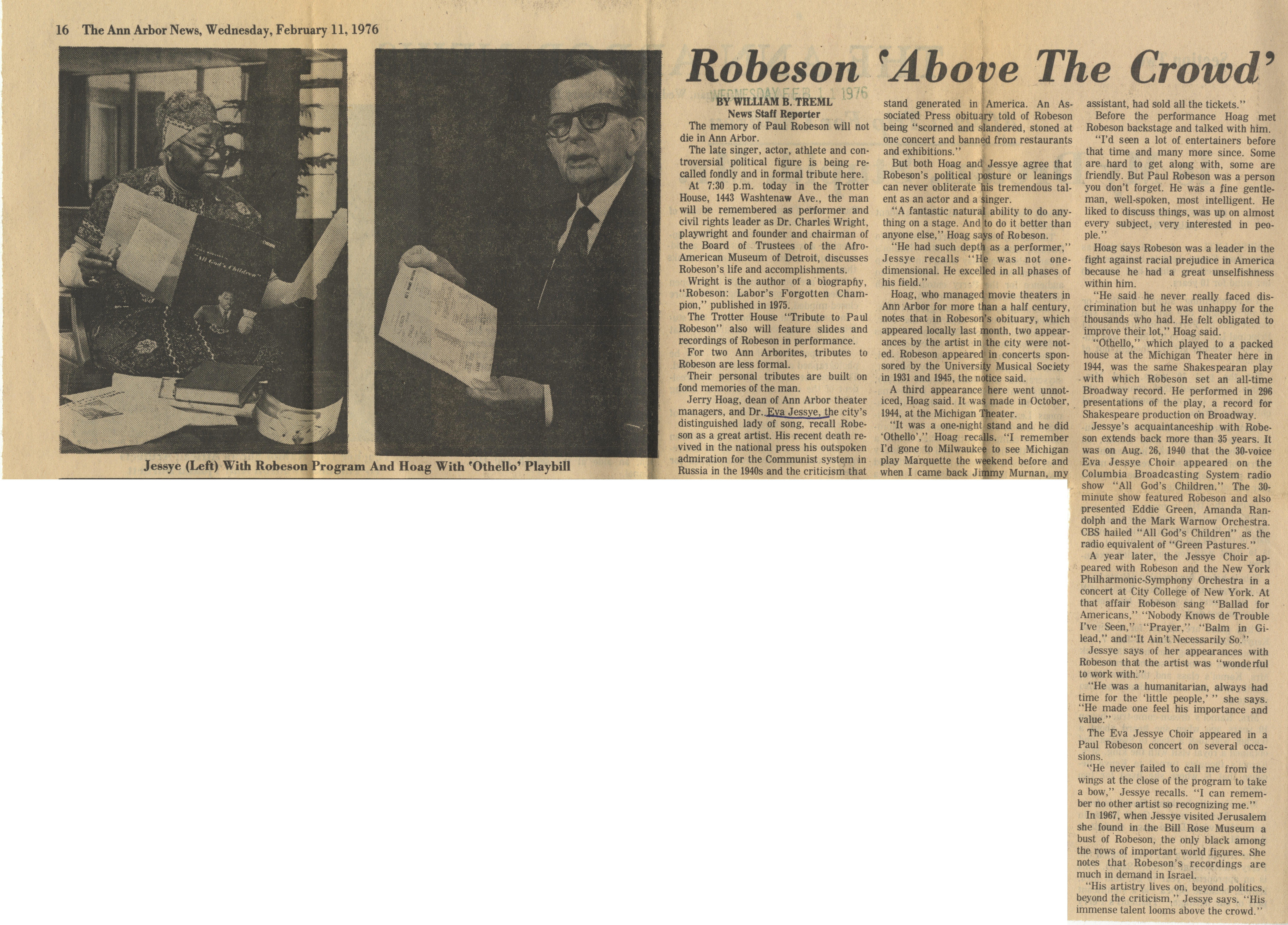 Robeson 'Above The Crowd' image