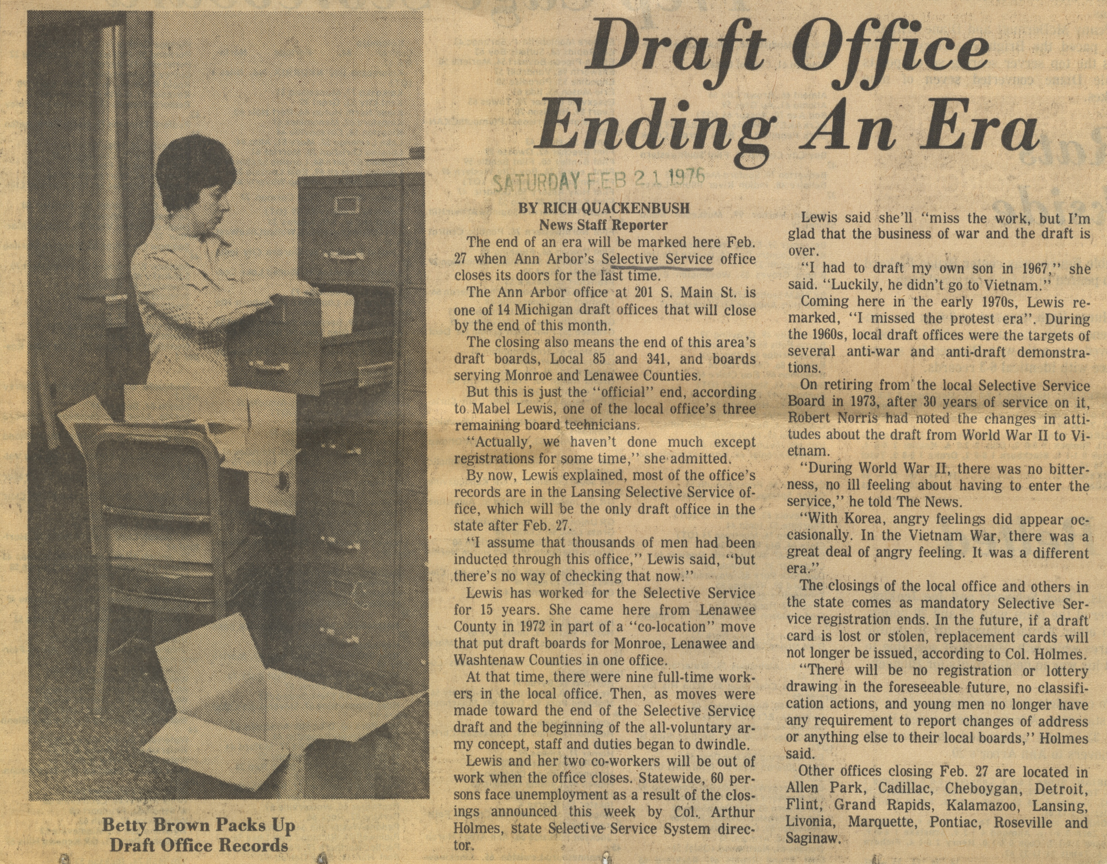 Draft Office Ending An Era image
