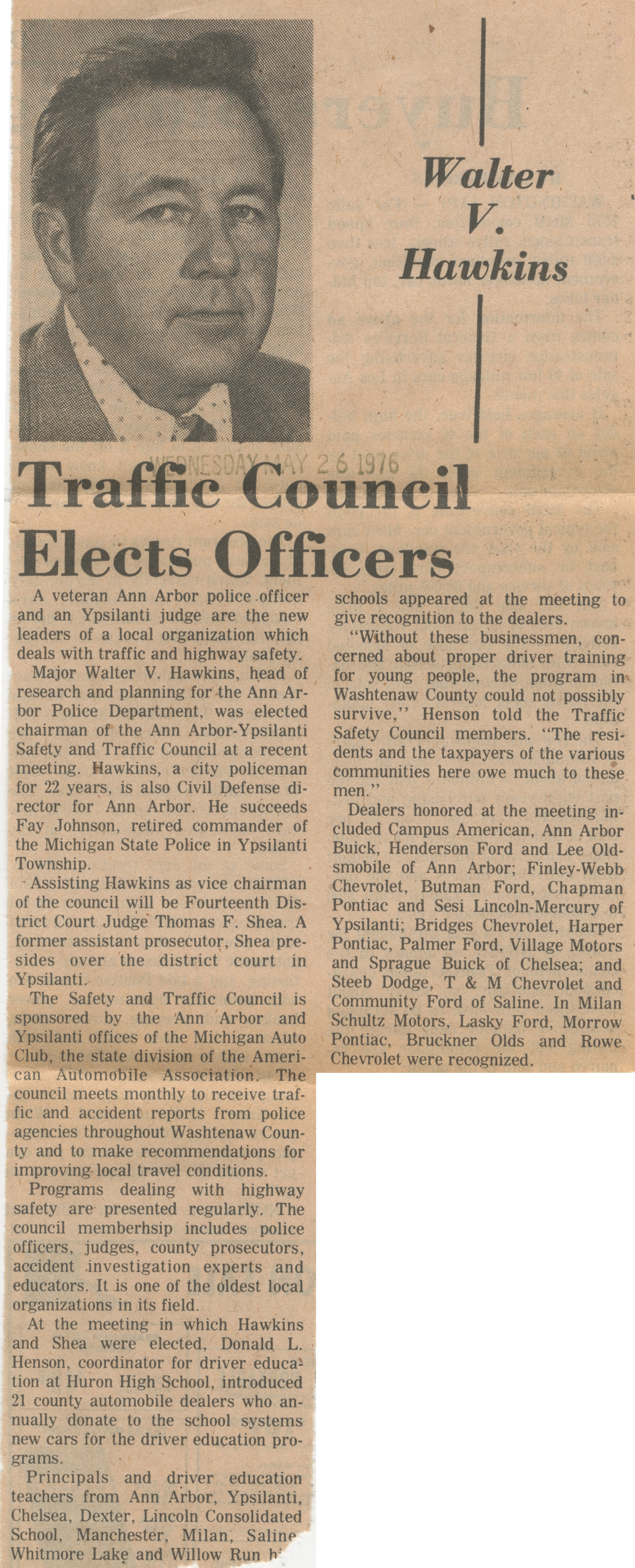 Traffic Council Elects Officers image