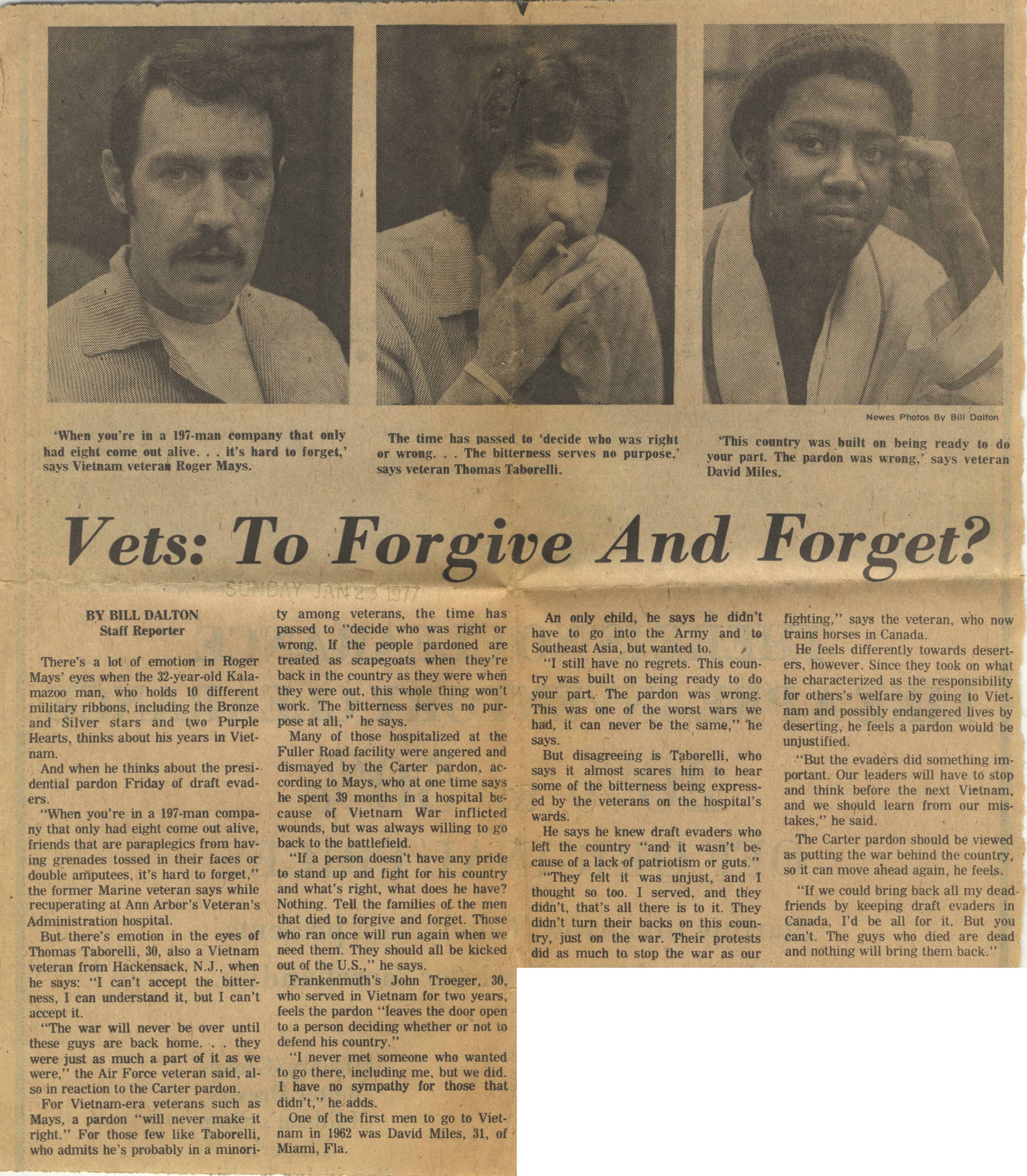 Vets: To Forgive And Forget? image