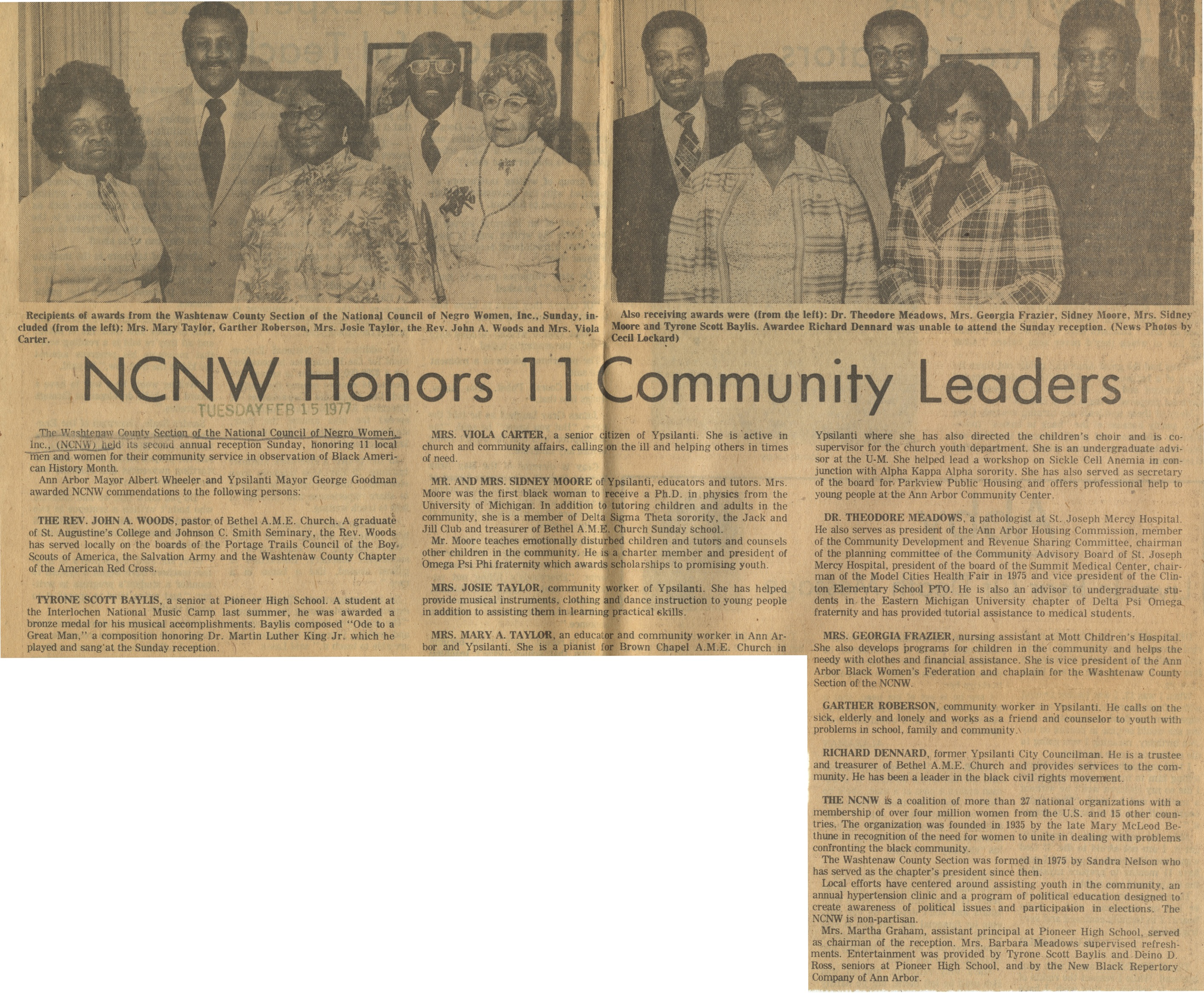 NCNW Honors 11 Community Leaders image