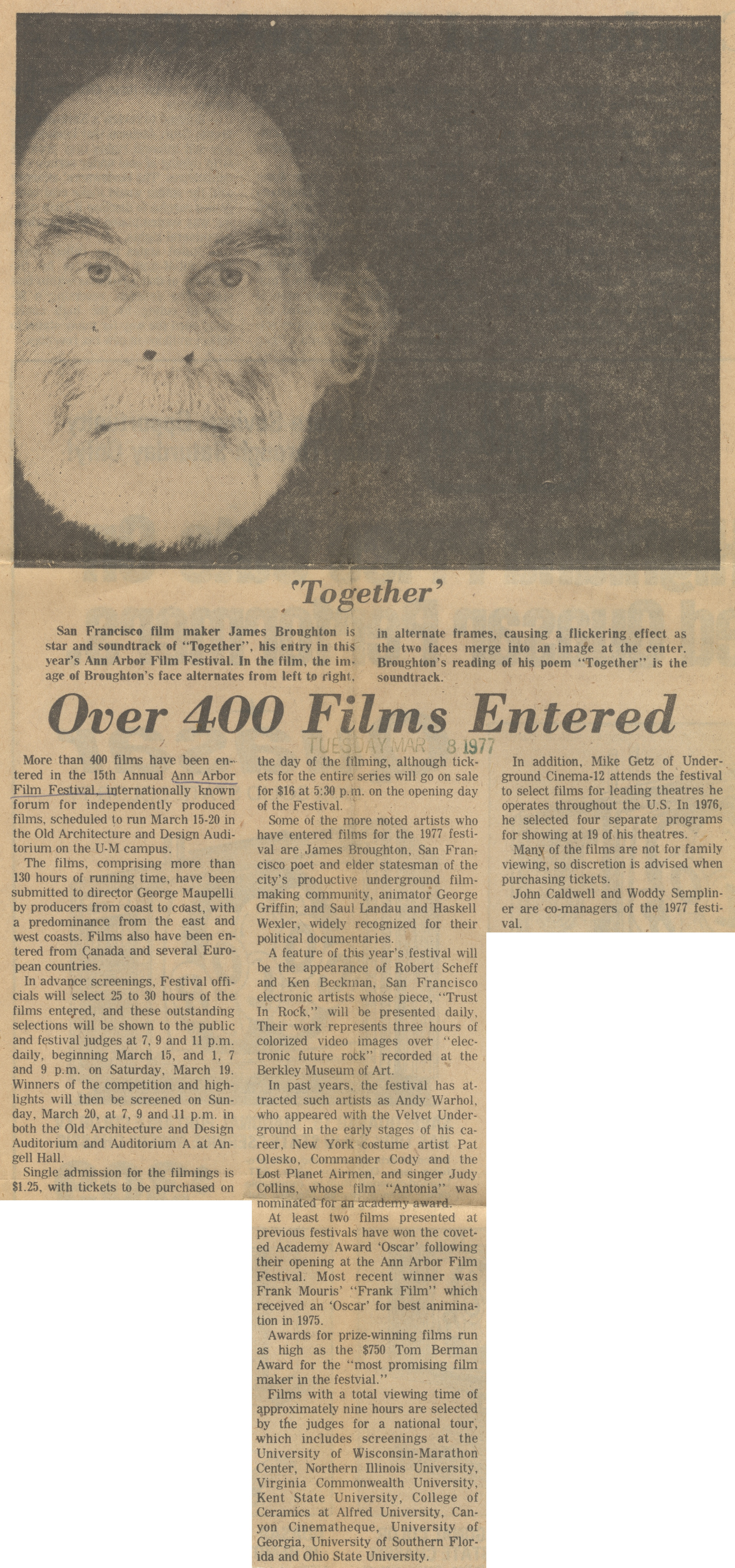 Over 400 Films Entered image