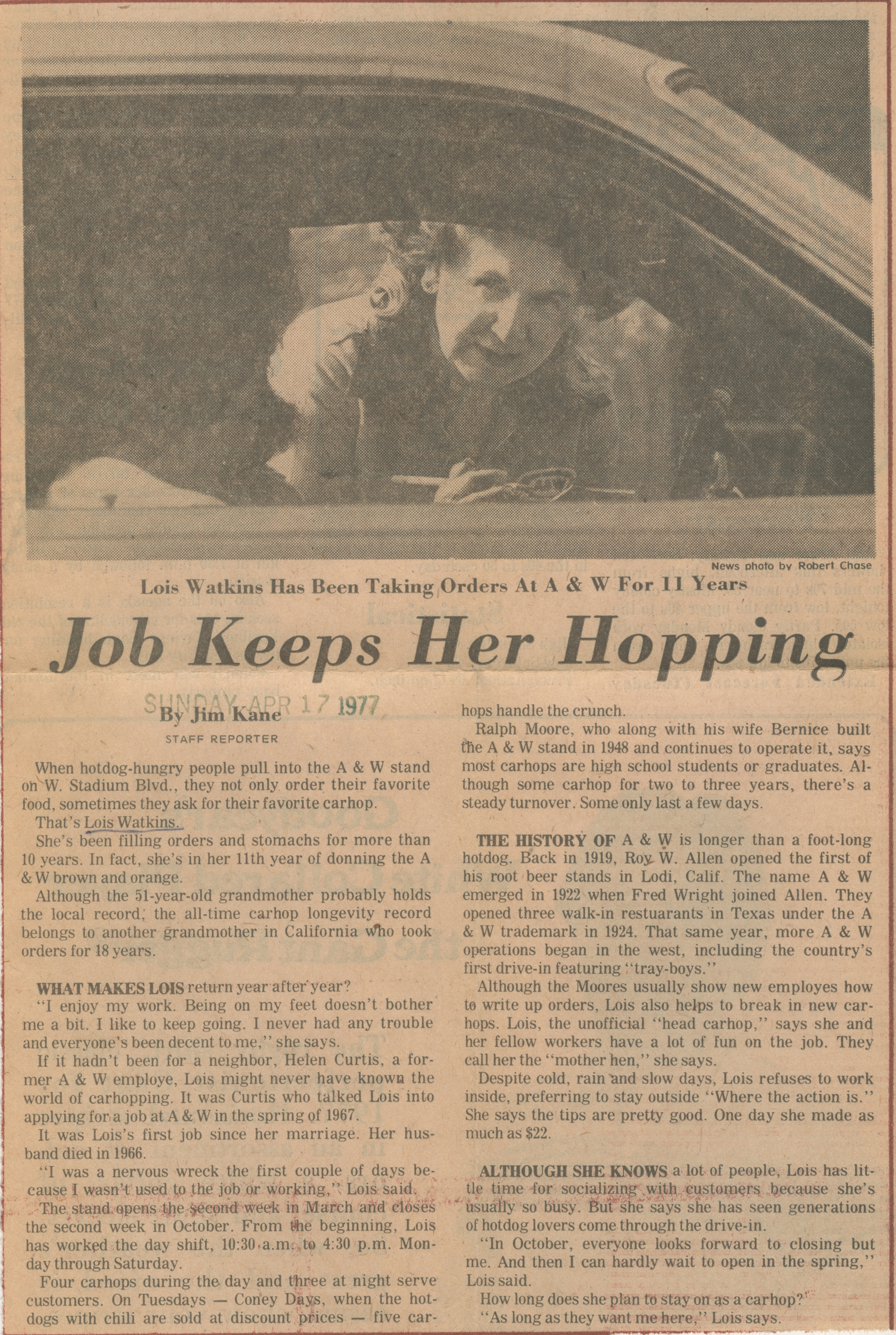 Job Keeps Her Hopping image