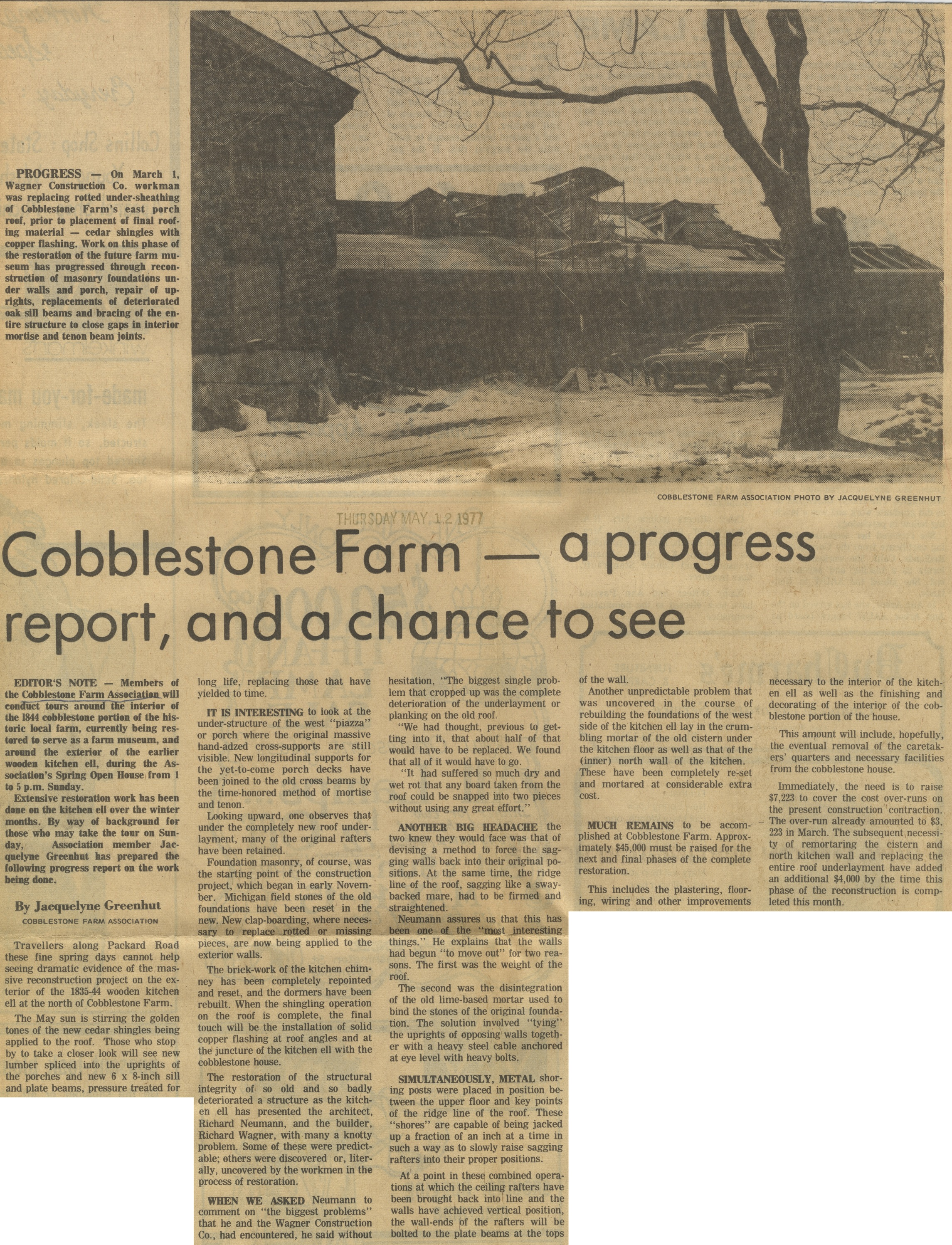 Cobblestone Farm - A Progress Report, And A Chance To See image