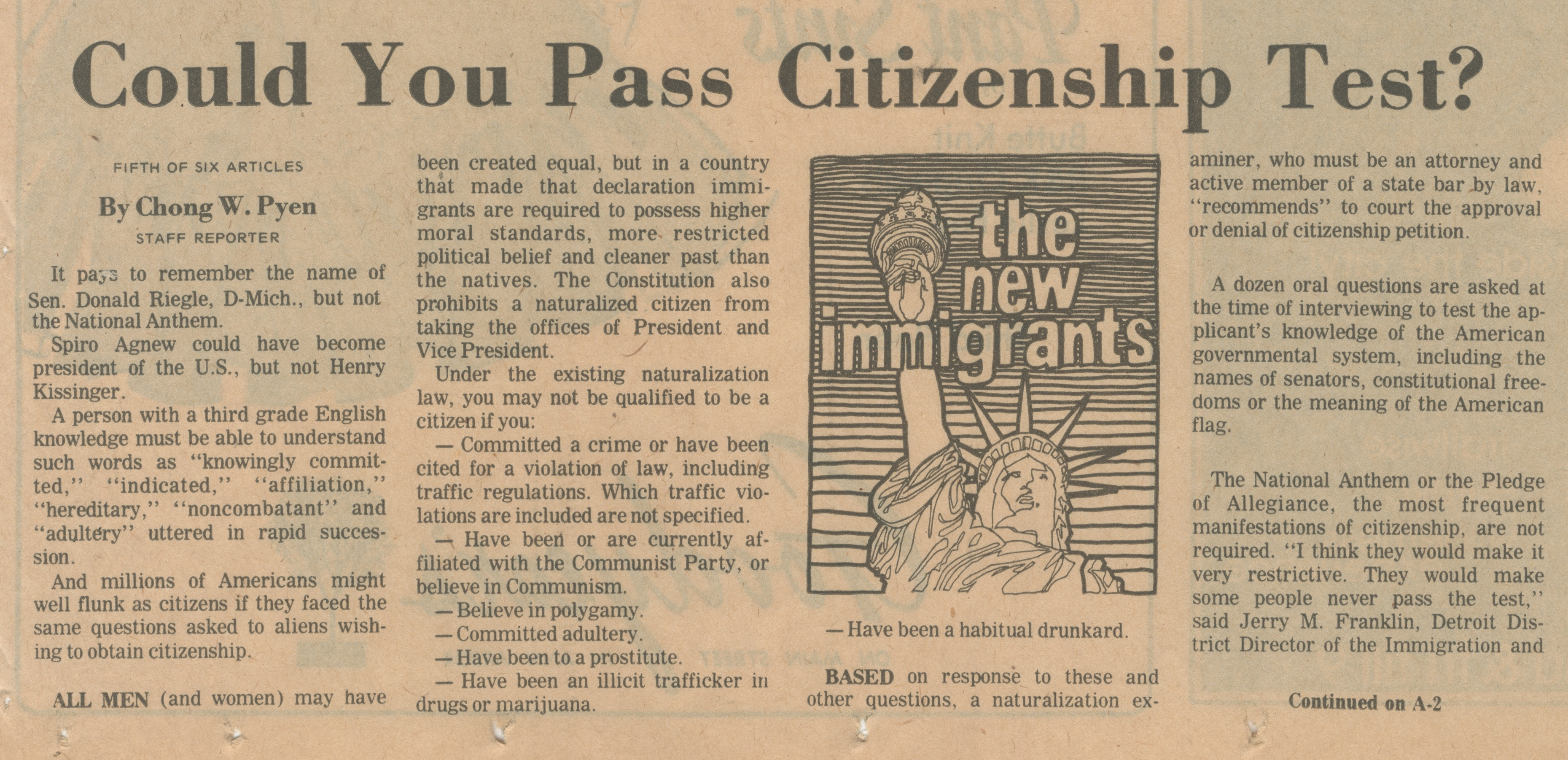 Could You Pass Citizenship Test? image
